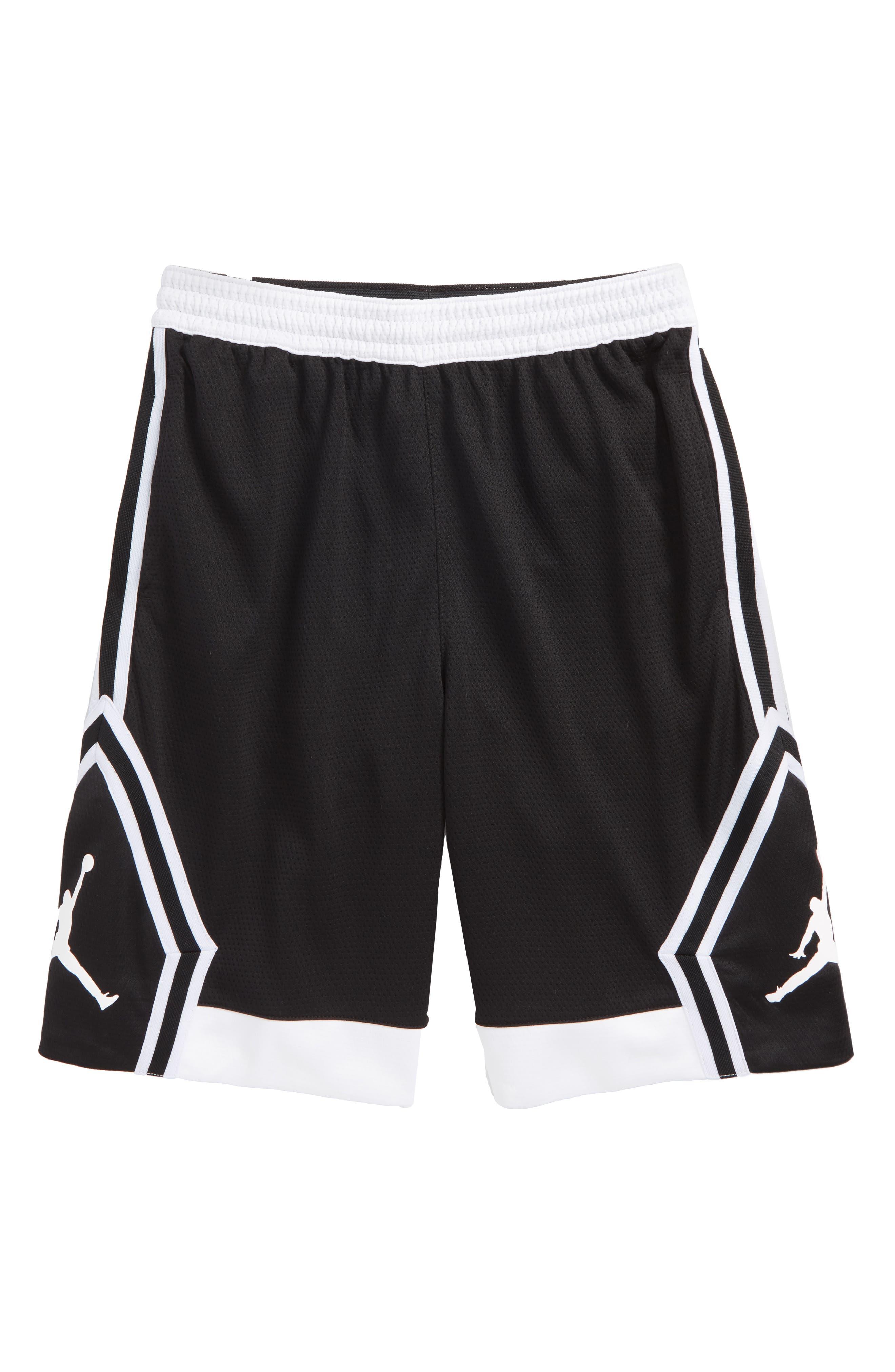 Jordan Rise Diamond Dri-FIT Basketball Shorts,                             Main thumbnail 1, color,                             Black