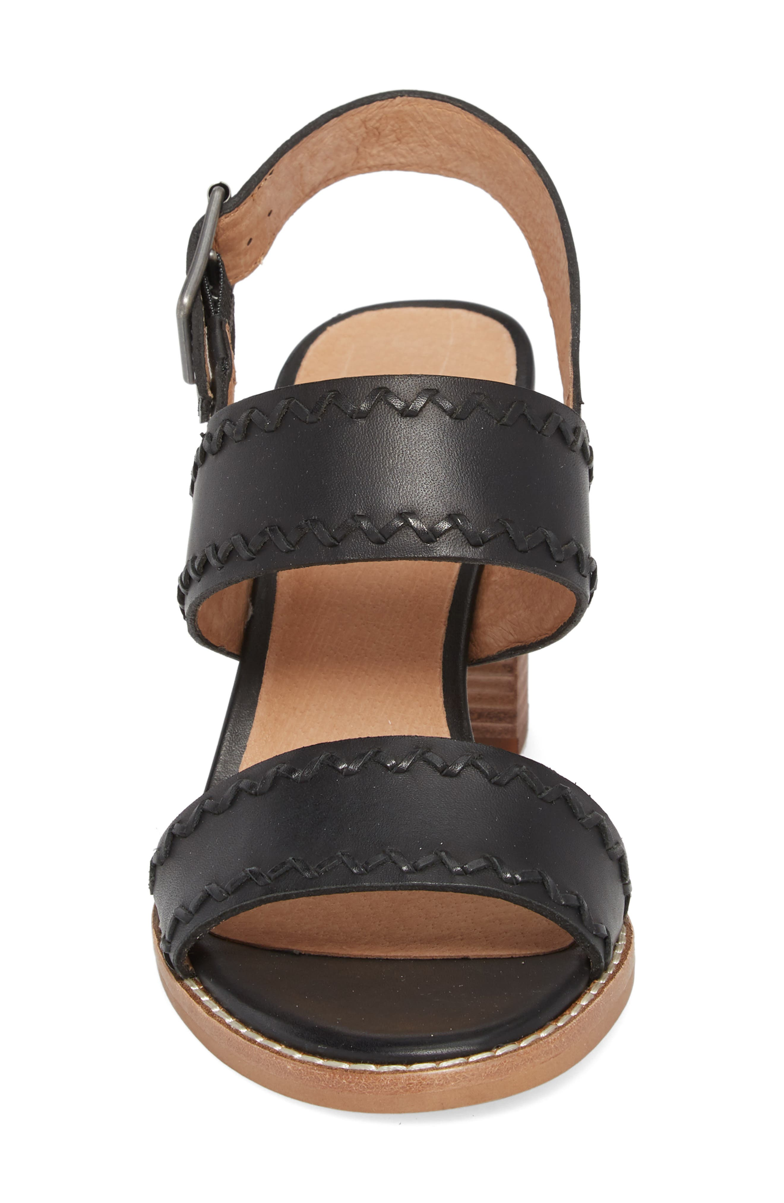 Giana Sandal,                             Alternate thumbnail 4, color,                             True Black Leather
