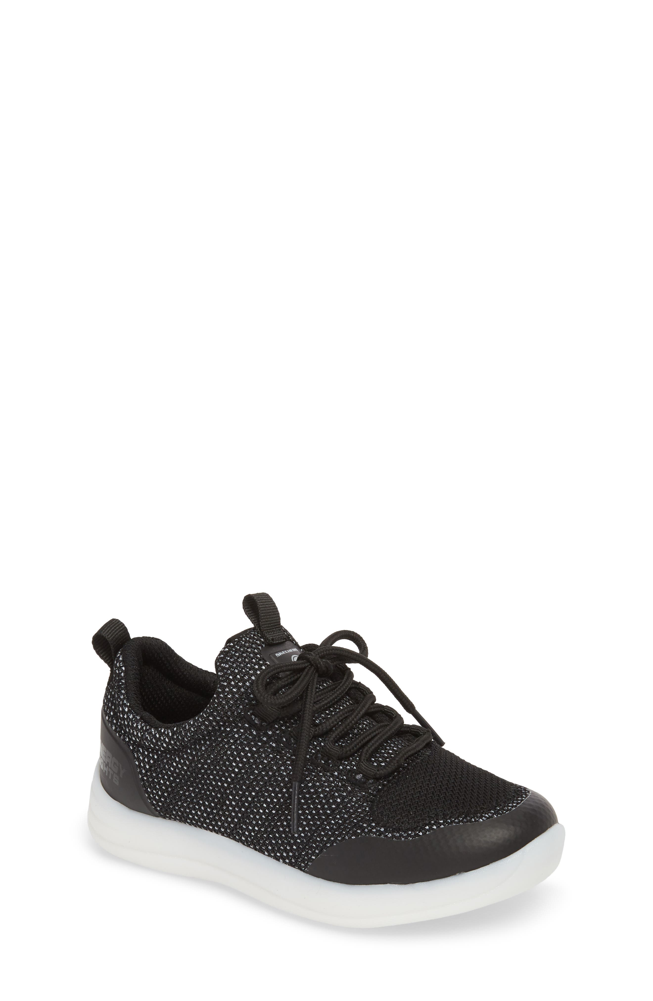 Energy Lights Street Sneaker,                             Main thumbnail 1, color,                             Black
