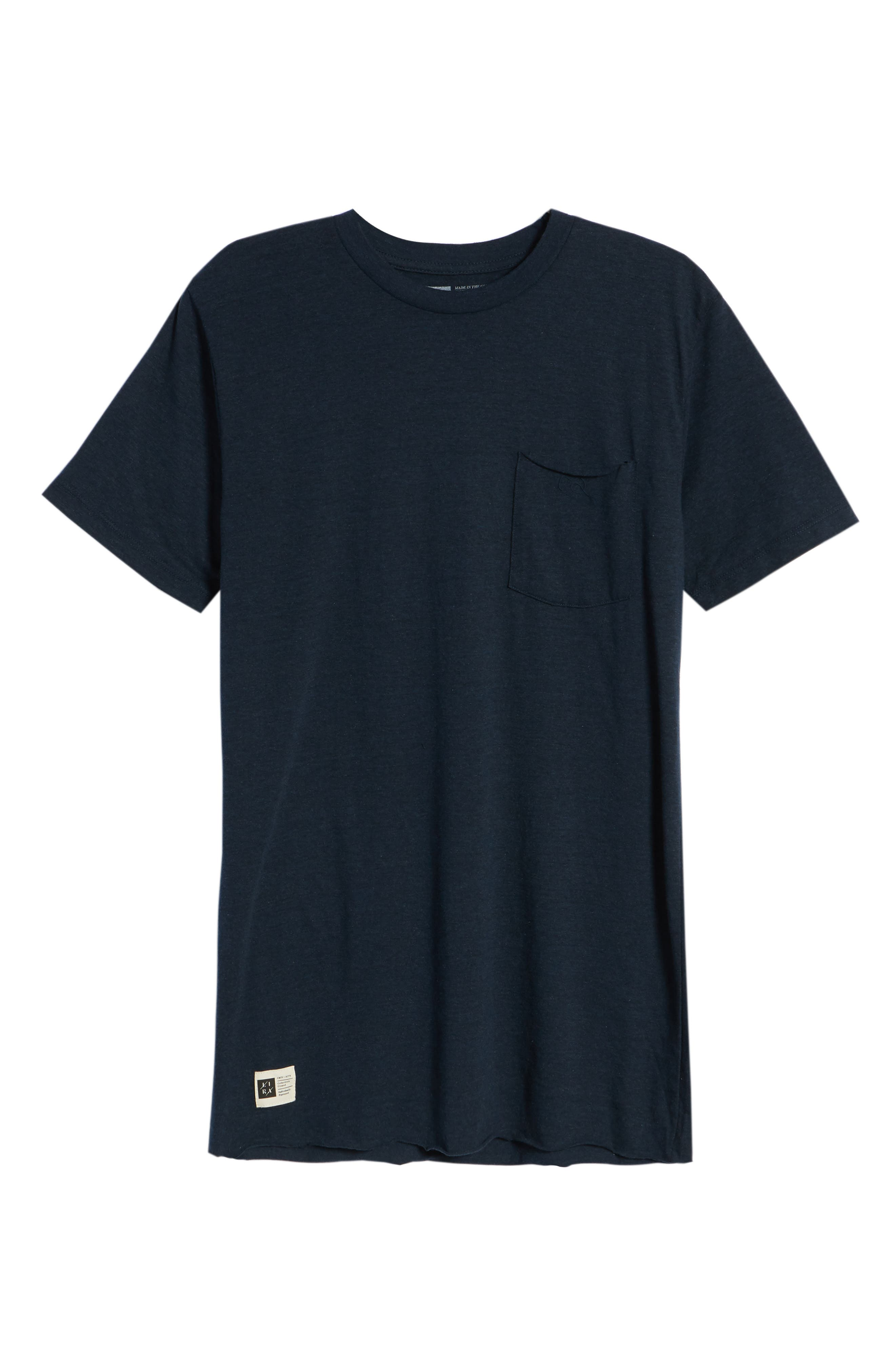 Winslow T-Shirt,                             Alternate thumbnail 6, color,                             Heather Navy