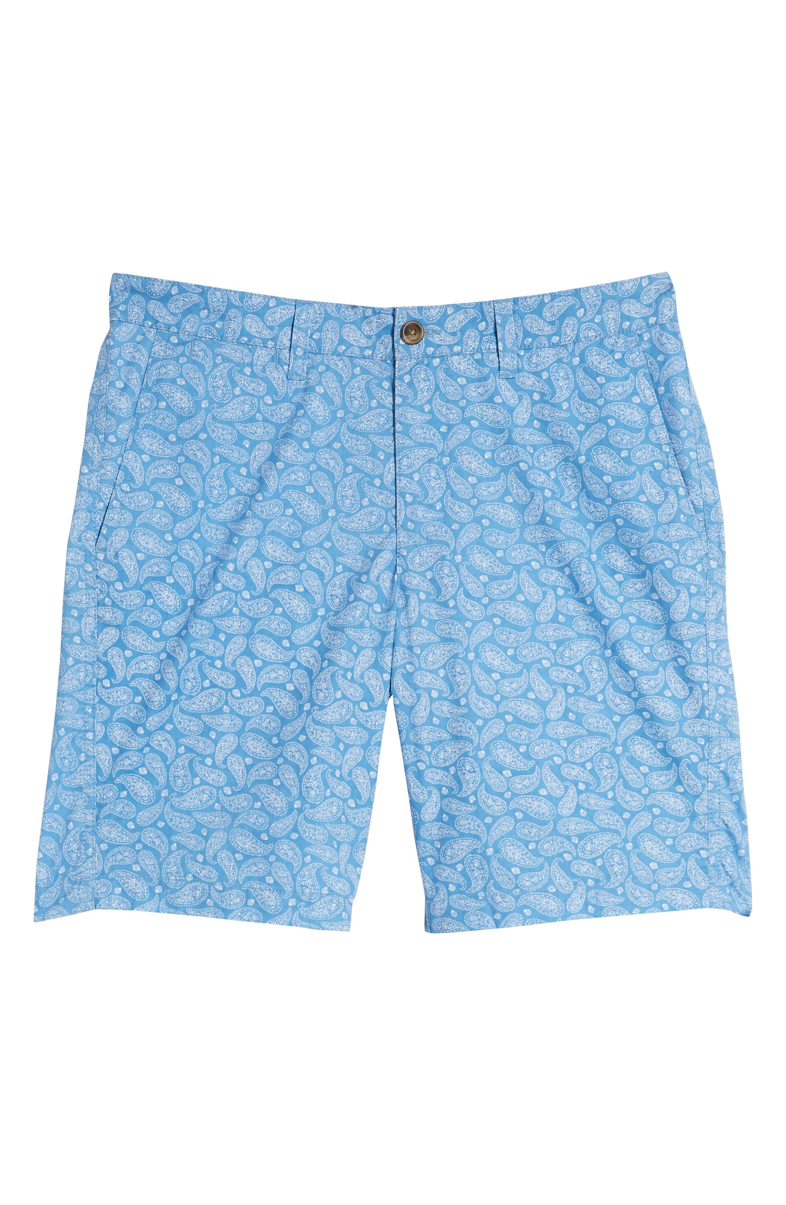 Bandana Paisley Print Shorts,                             Alternate thumbnail 6, color,                             Blue Lake Bandana Paisley