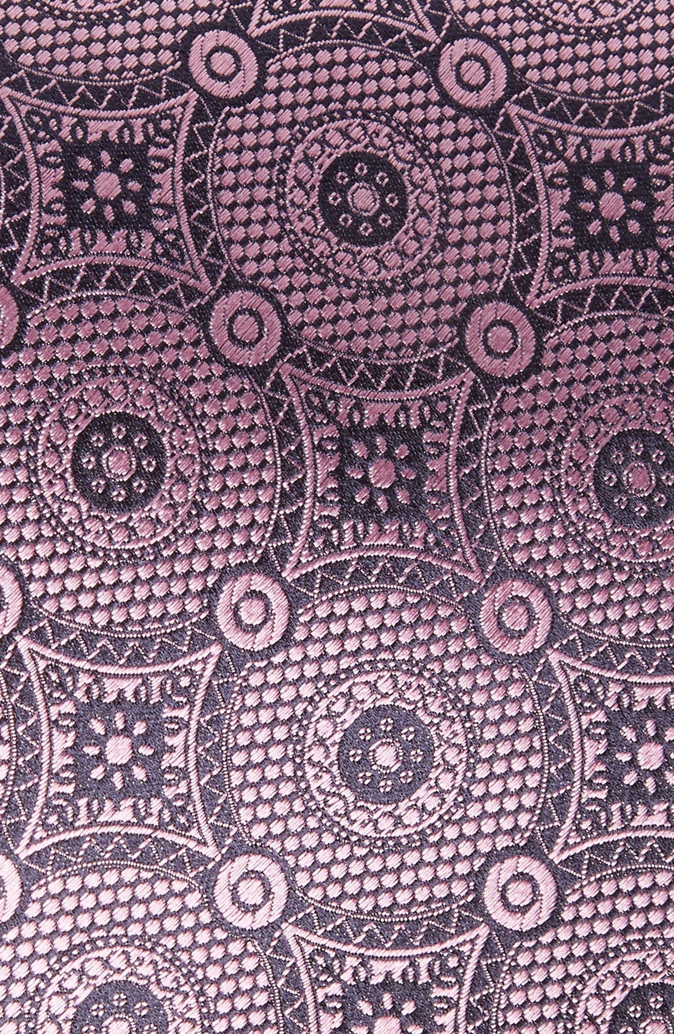 Medallion Silk Tie,                             Alternate thumbnail 2, color,                             Pink