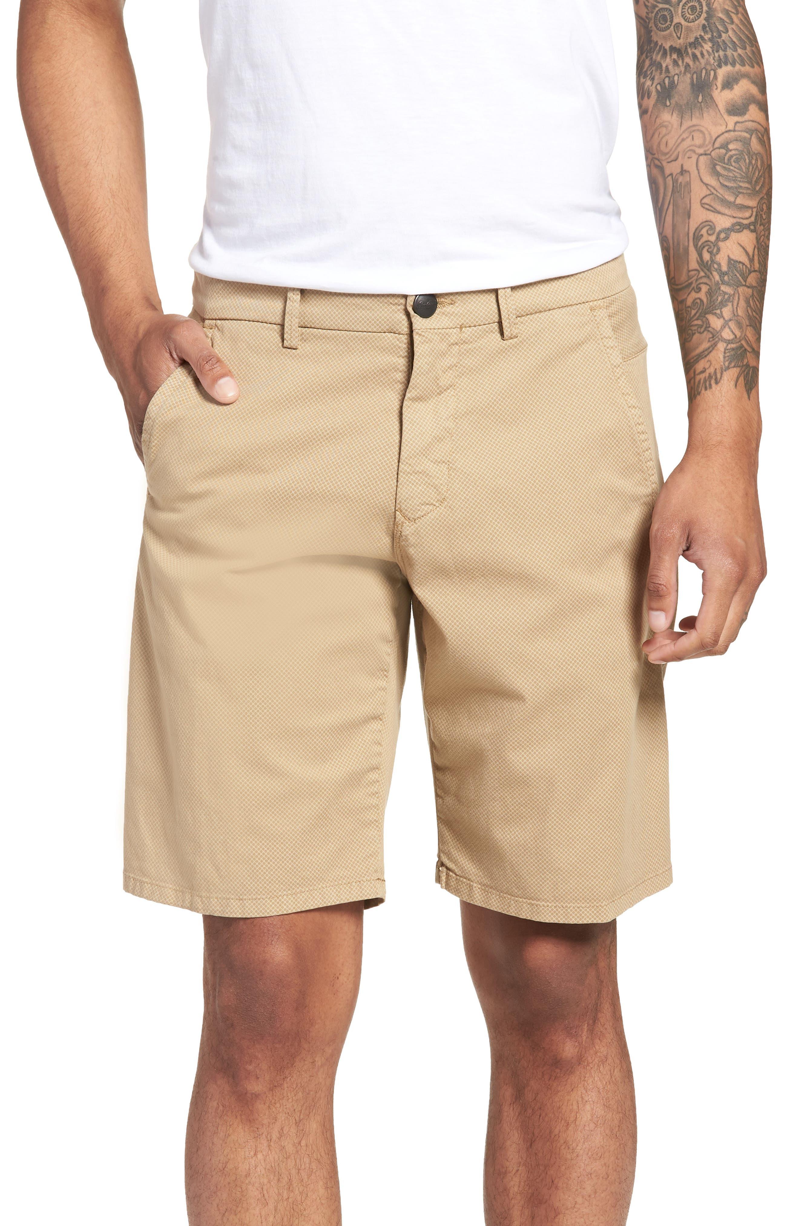 Monaco Diamond Dash Modern Fit Chino Shorts,                         Main,                         color, Khaki