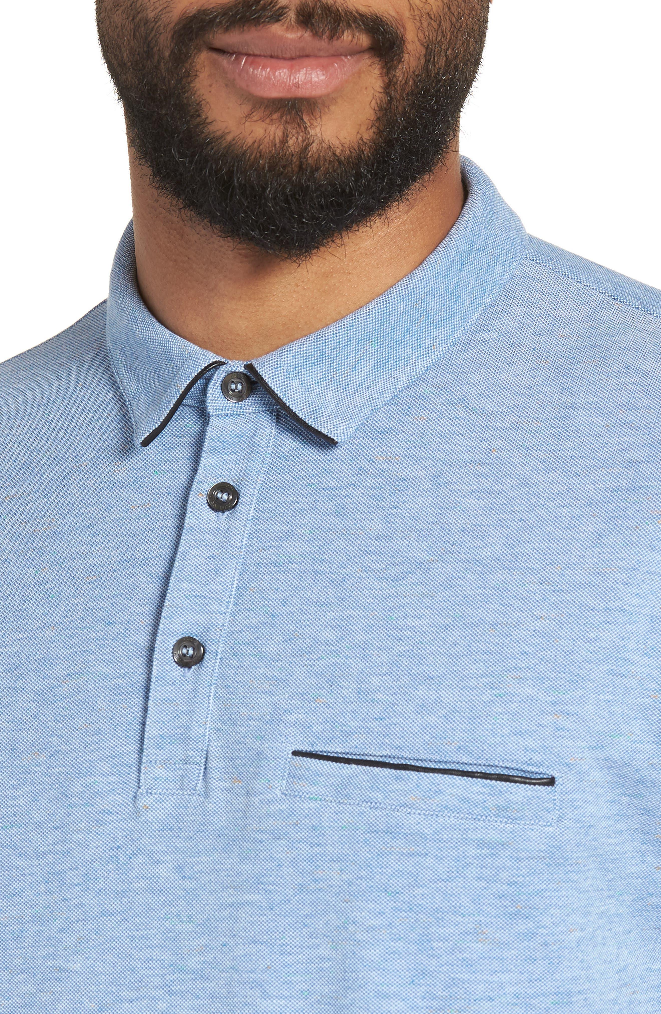 Darrow Cotton Polo Shirt,                             Alternate thumbnail 4, color,                             Blue