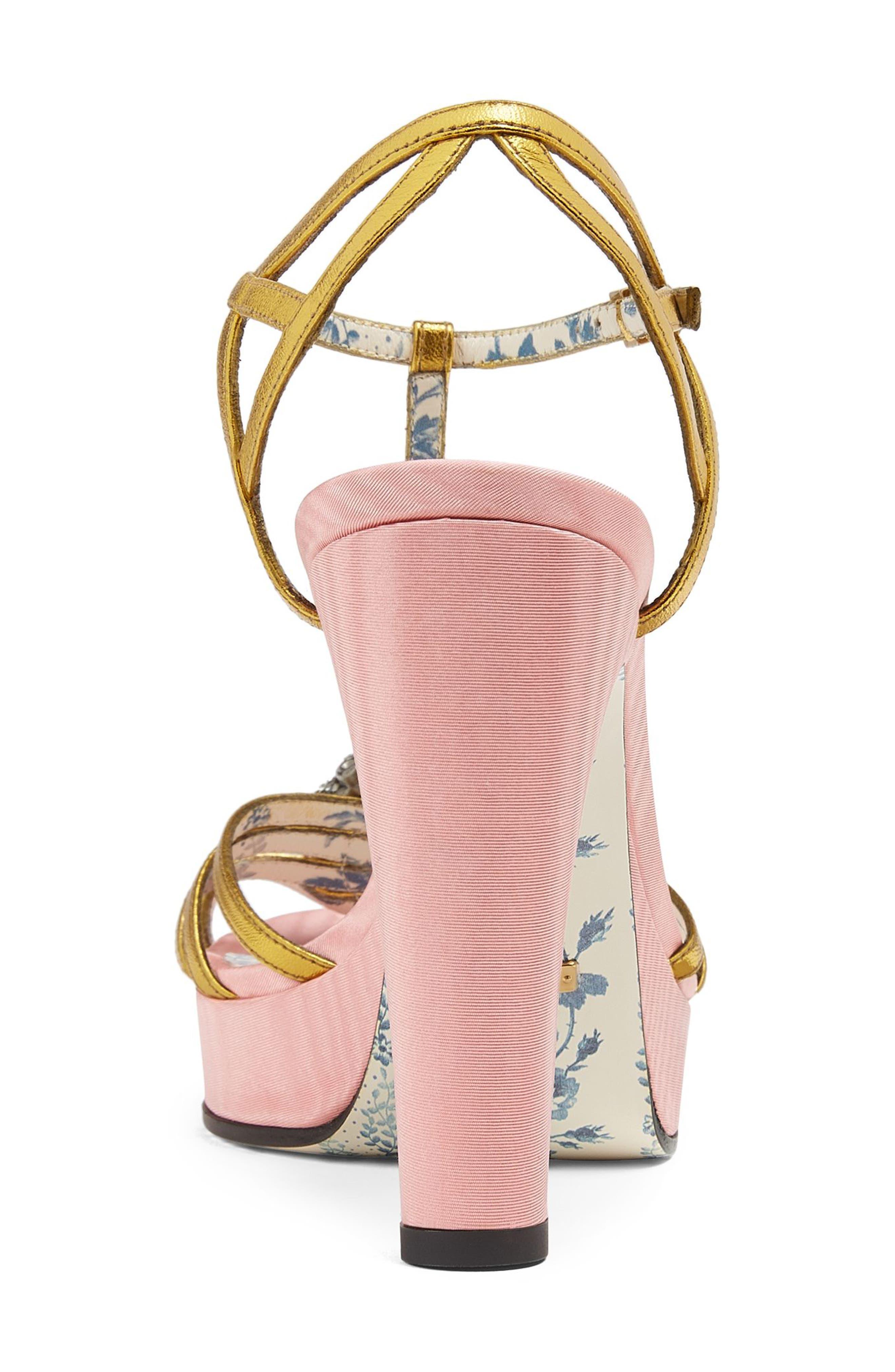 Alternate Image 5  - Gucci Elias Crystal Tiger T-Strap Sandal (Women)
