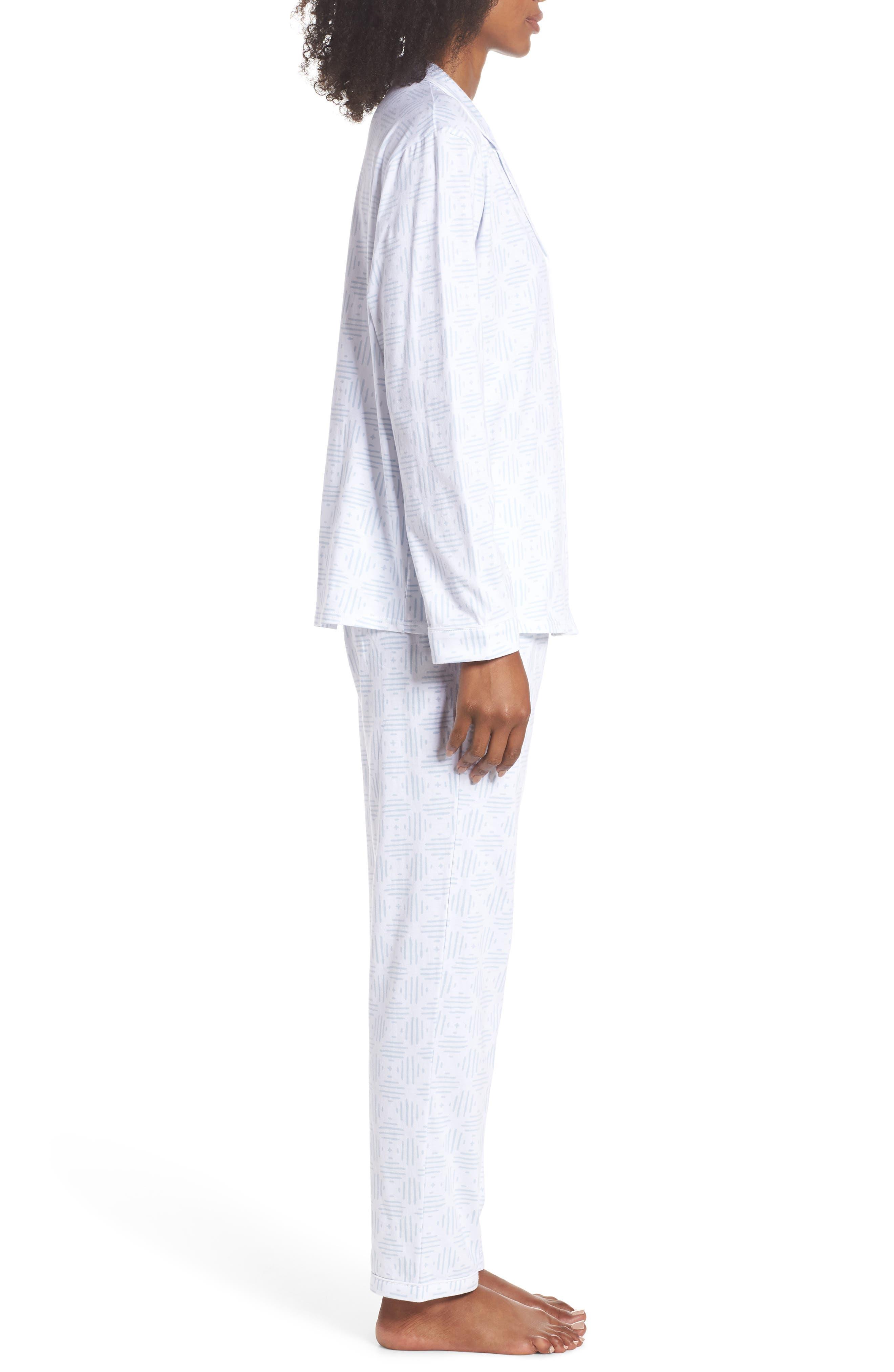 Moroccan Tile Pajamas,                             Alternate thumbnail 3, color,                             Moro Tile Blue