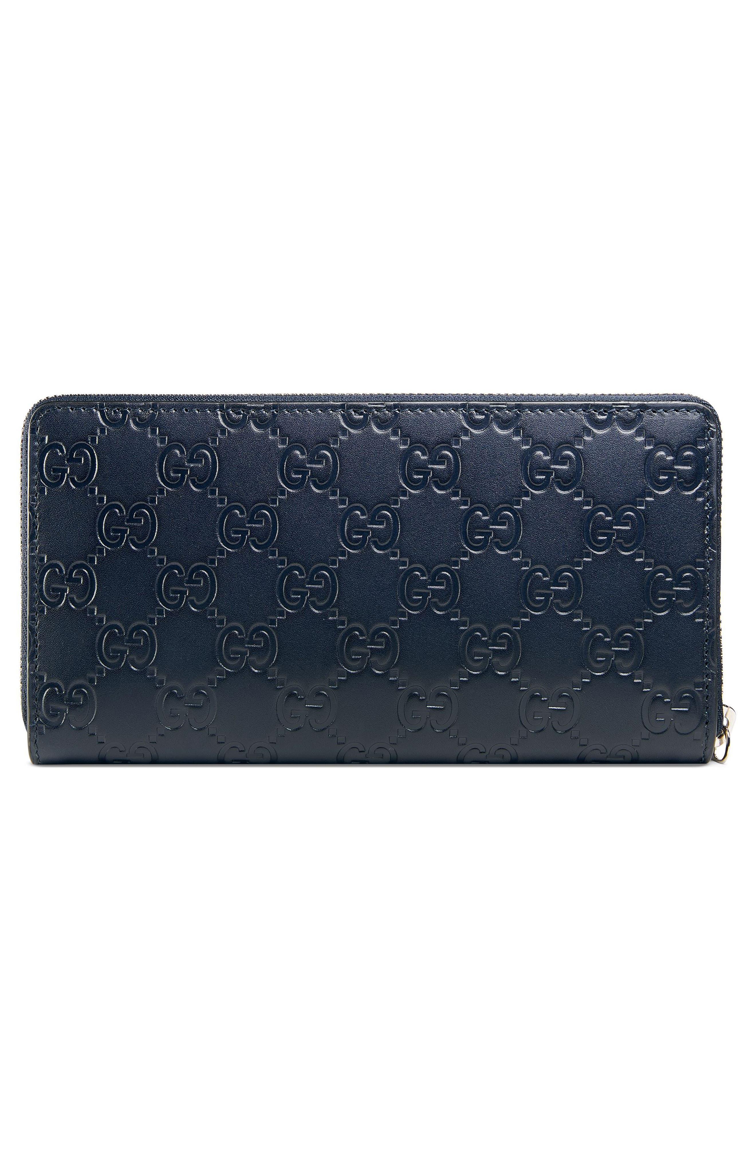 Dorian Leather Wallet,                             Alternate thumbnail 2, color,                             Blue