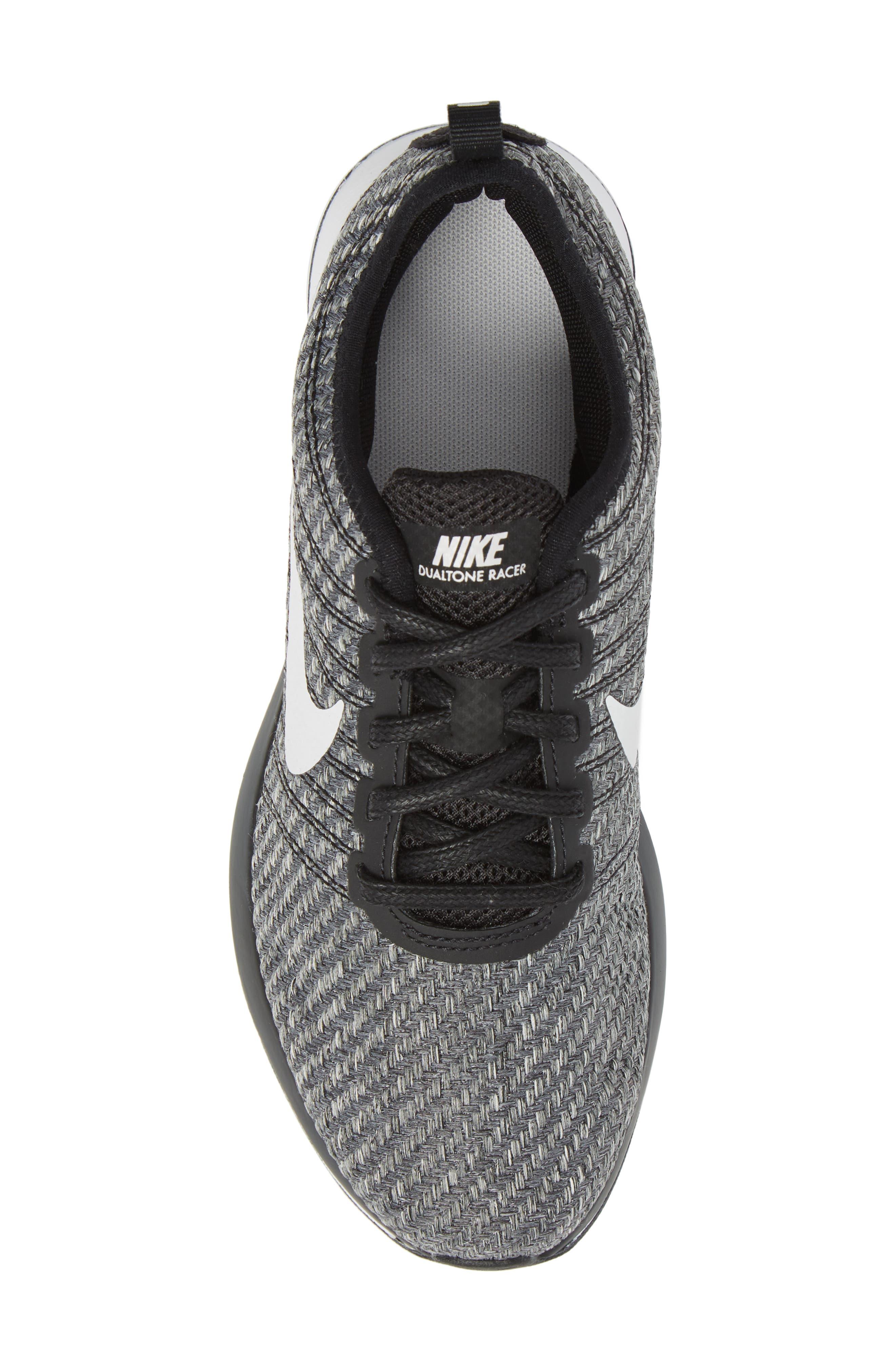 Dualtone Racer SE Sneaker,                             Alternate thumbnail 5, color,                             Black/ Vast Grey/ White