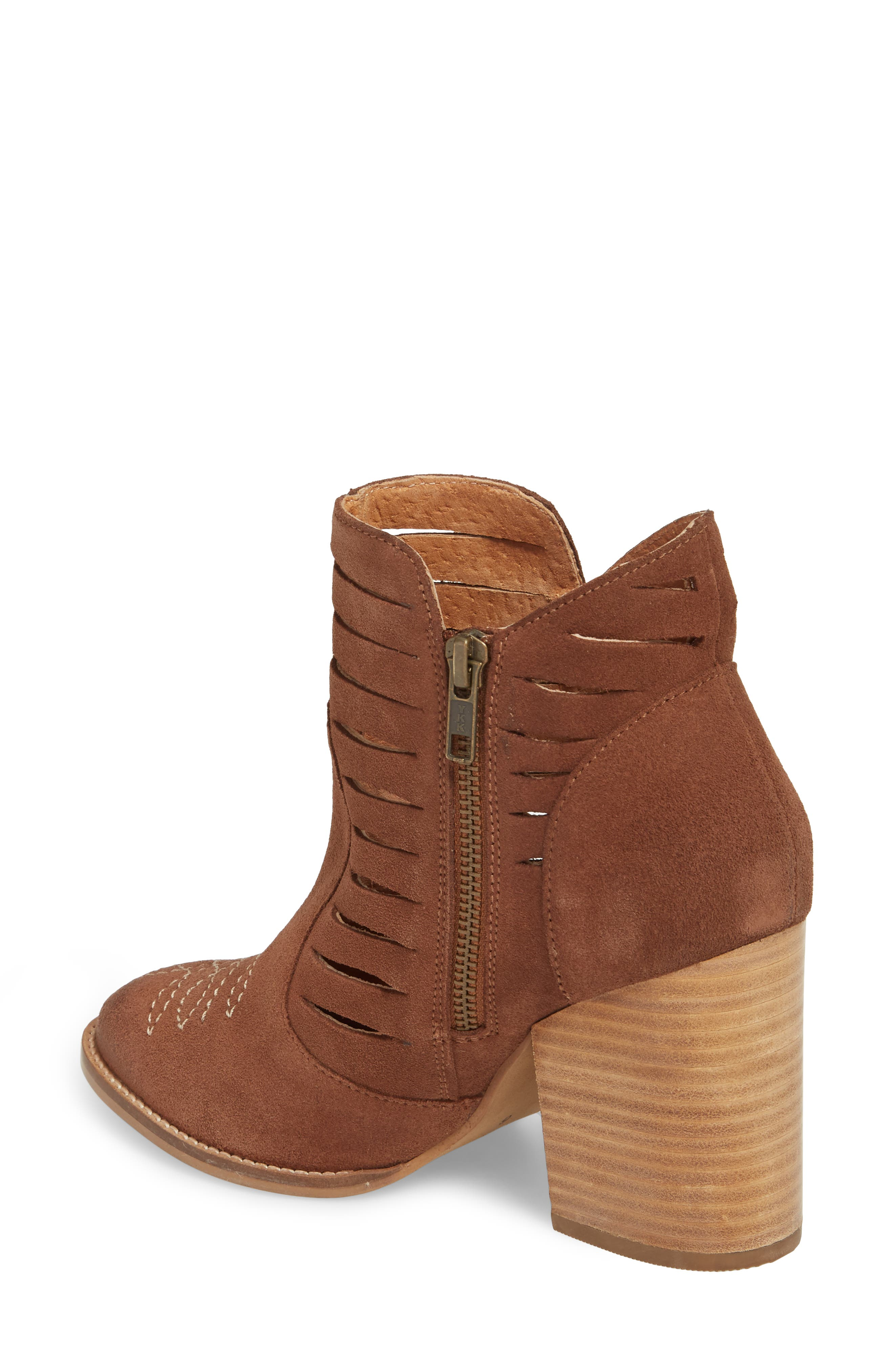 Adriana Western Bootie,                             Alternate thumbnail 2, color,                             Whiskey Suede