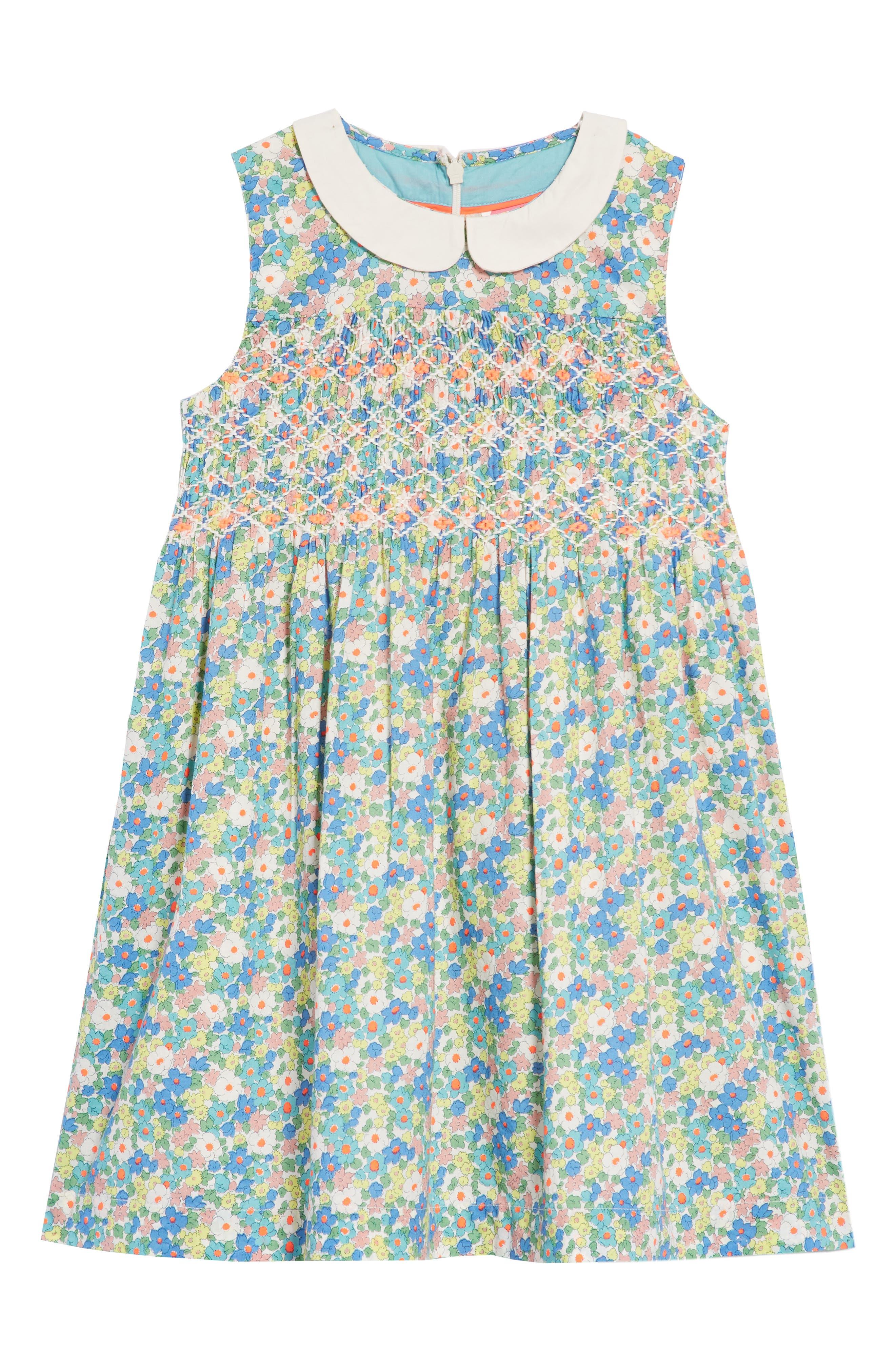 Nostalgic Smocked Dress,                         Main,                         color, Camper Blue Vintage