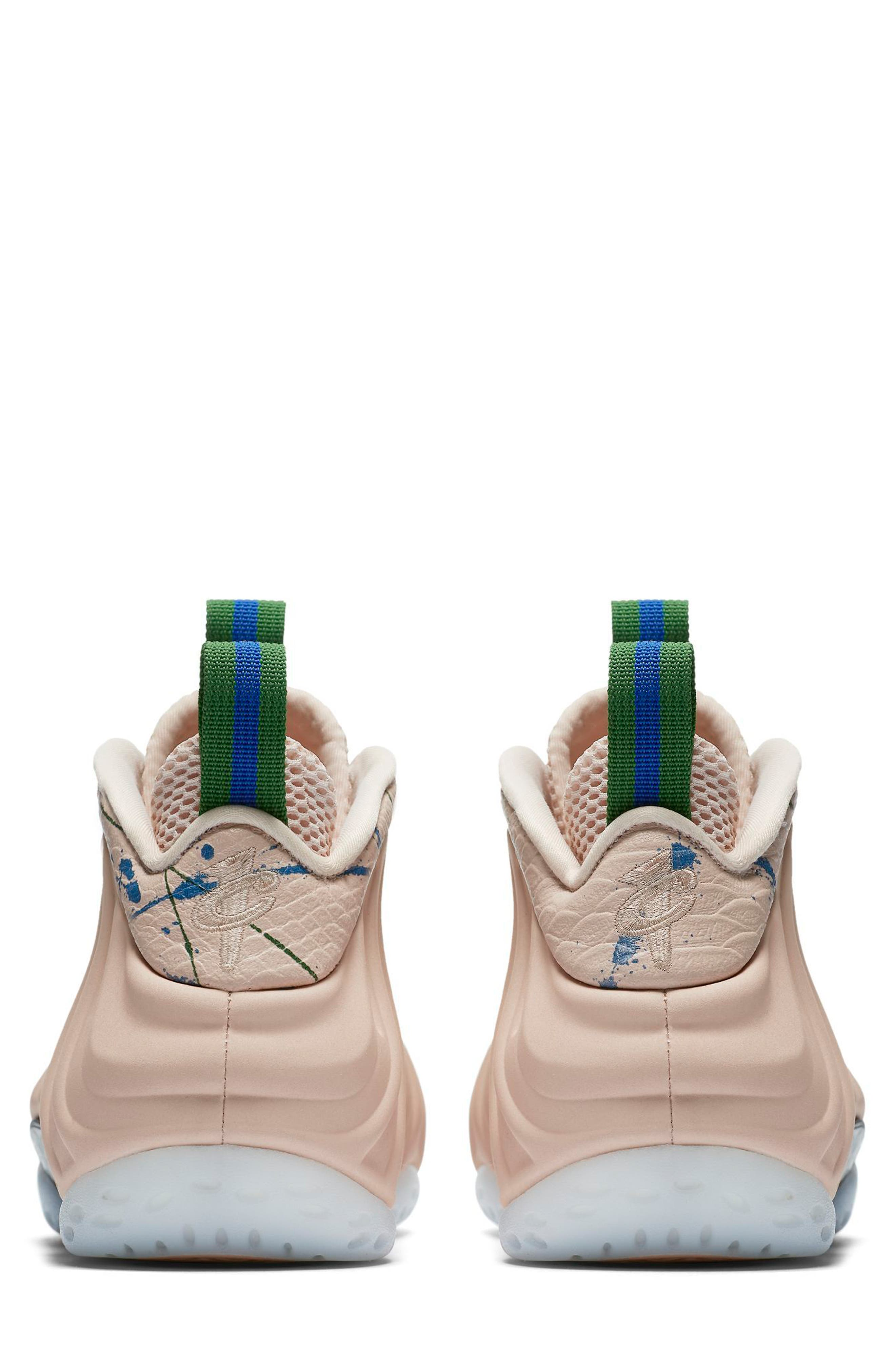 Air Foamposite One Sneaker,                             Alternate thumbnail 2, color,                             Particle Beige/ White