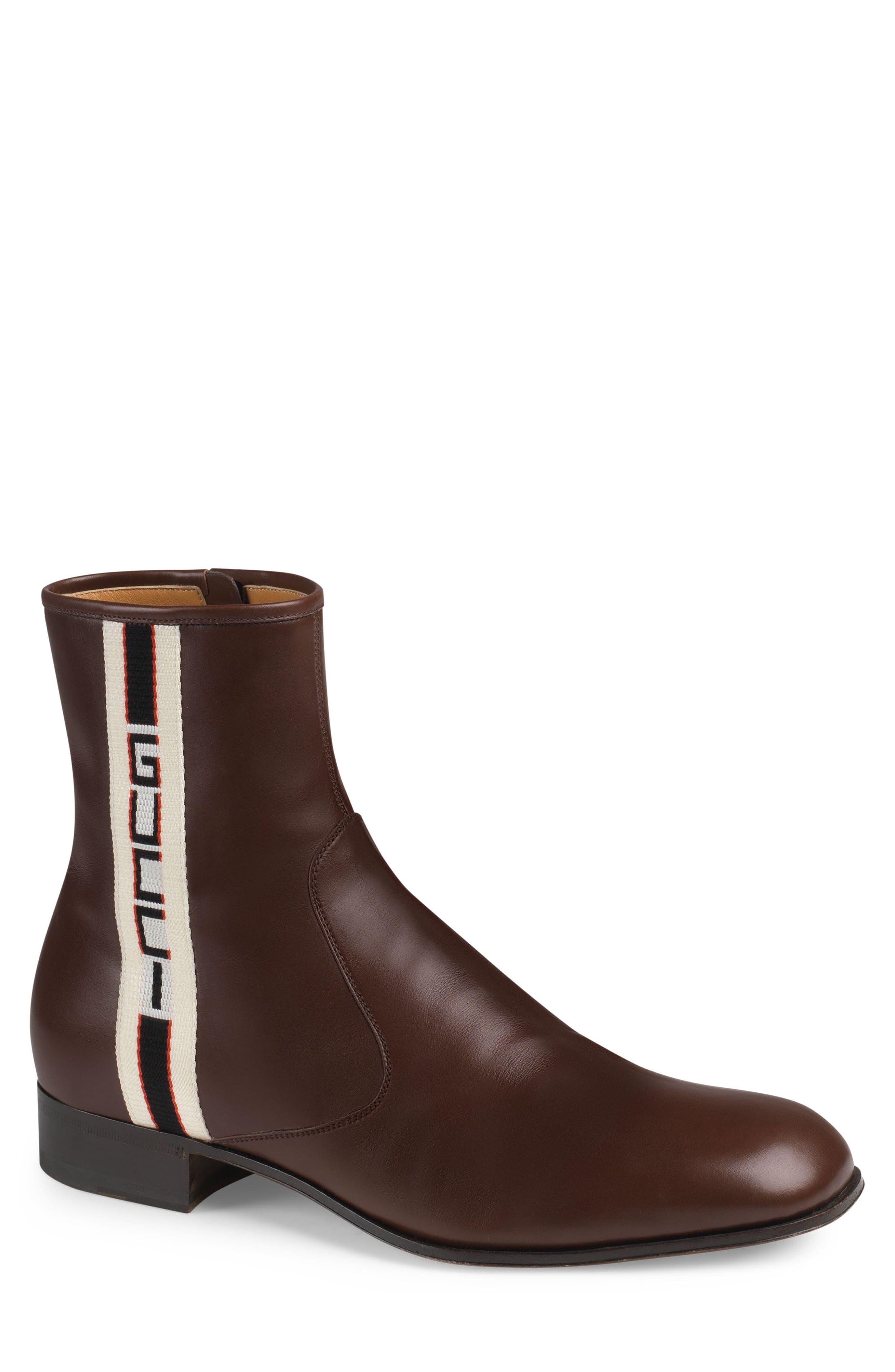 Gucci Bonny Vertical Logo Mid Boot (Men)