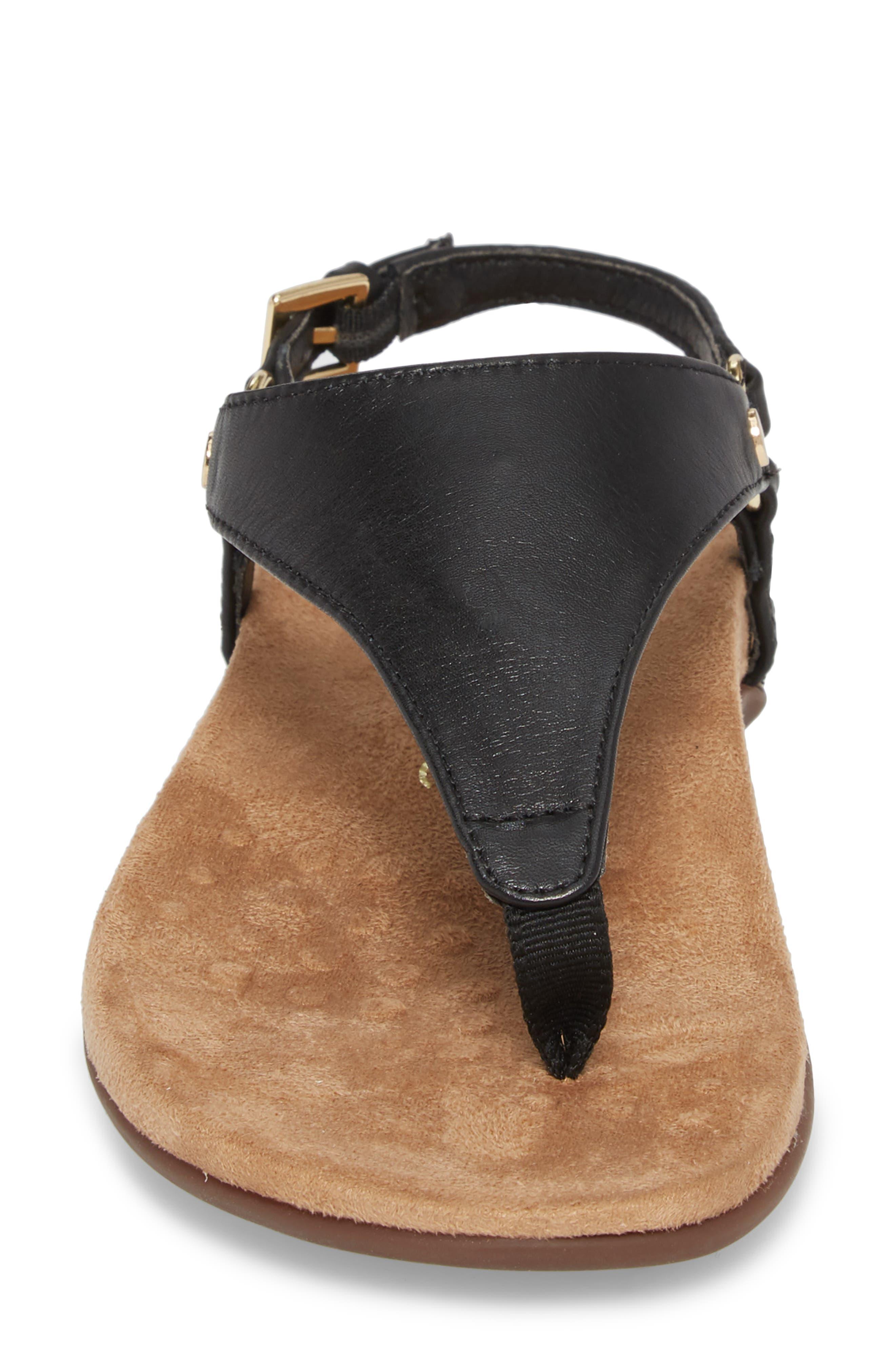 Kirra Orthaheel<sup>®</sup> Sandal,                             Alternate thumbnail 4, color,                             Black Leather