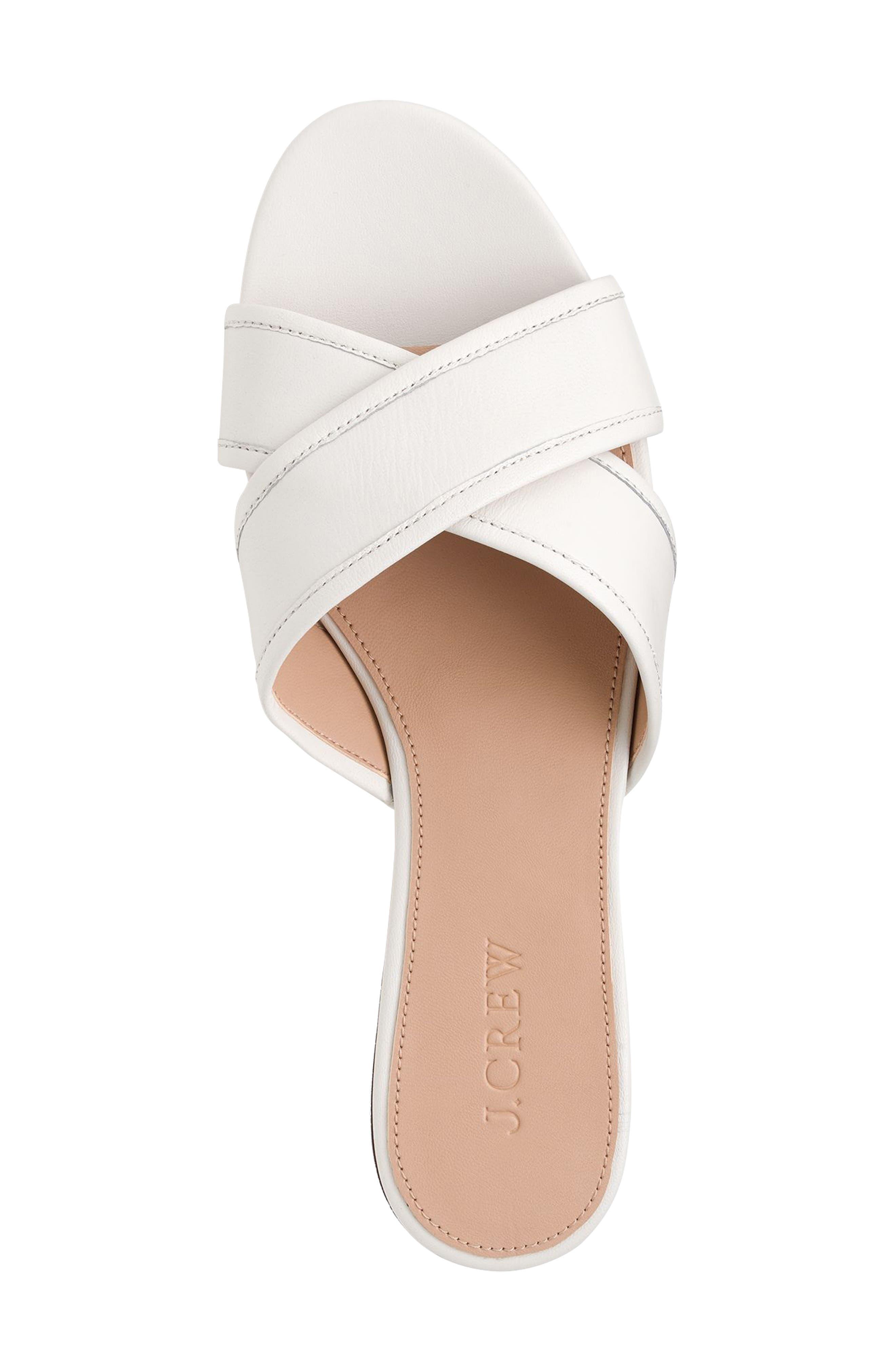 Cora Slide Sandal,                             Alternate thumbnail 3, color,                             Vintage Champagne Leather