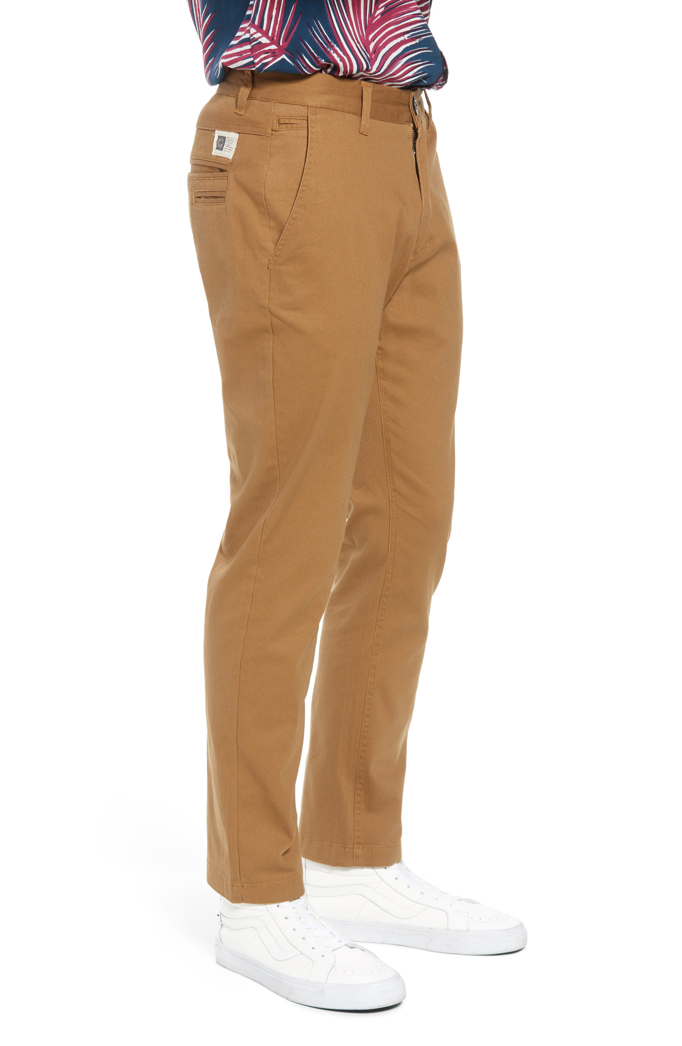 Crossroad Slim Fit Pants,                             Alternate thumbnail 3, color,                             Khaki