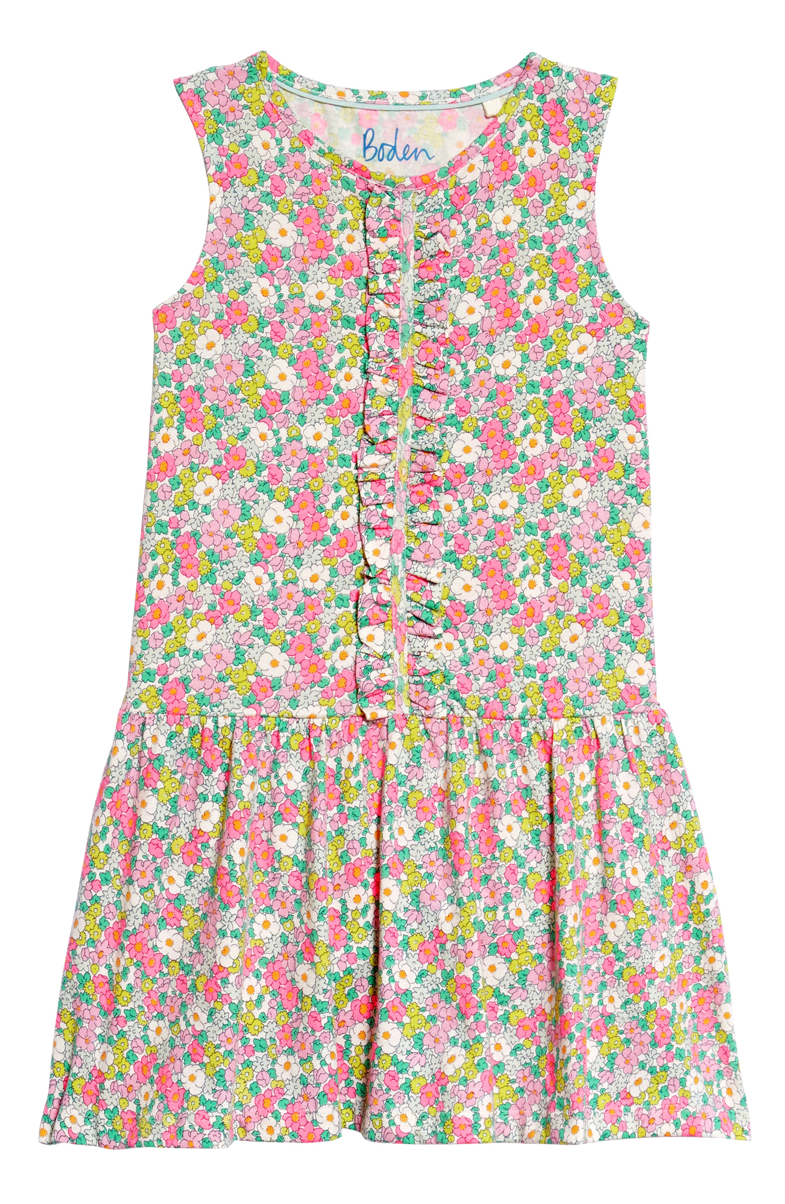 Ruffle Jersey Dress,                             Main thumbnail 1, color,                             Knockout Pink Vintag