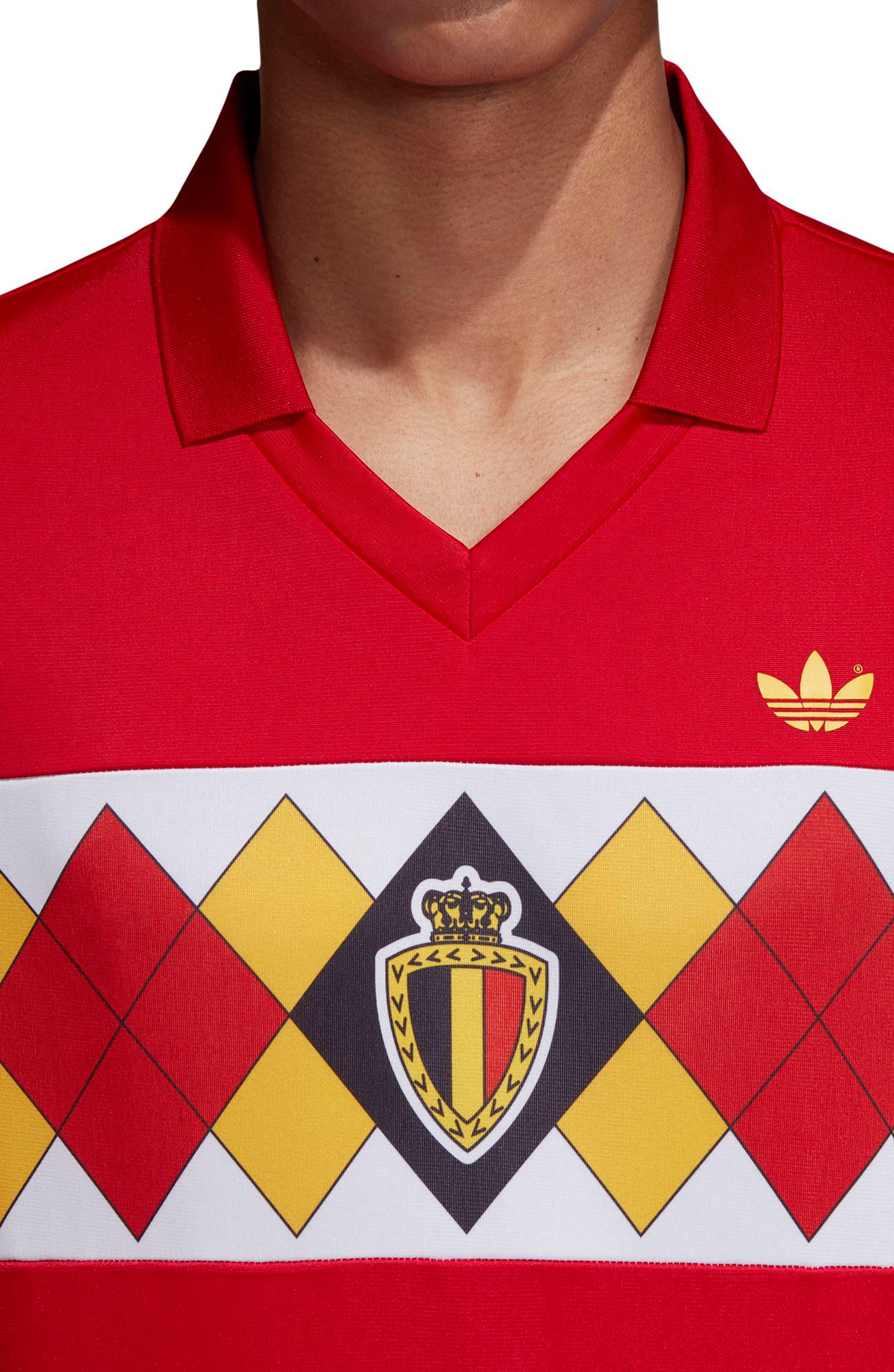 adidas Original Belgium 1984 Soccer Jersey,                             Alternate thumbnail 4, color,                             Vicred