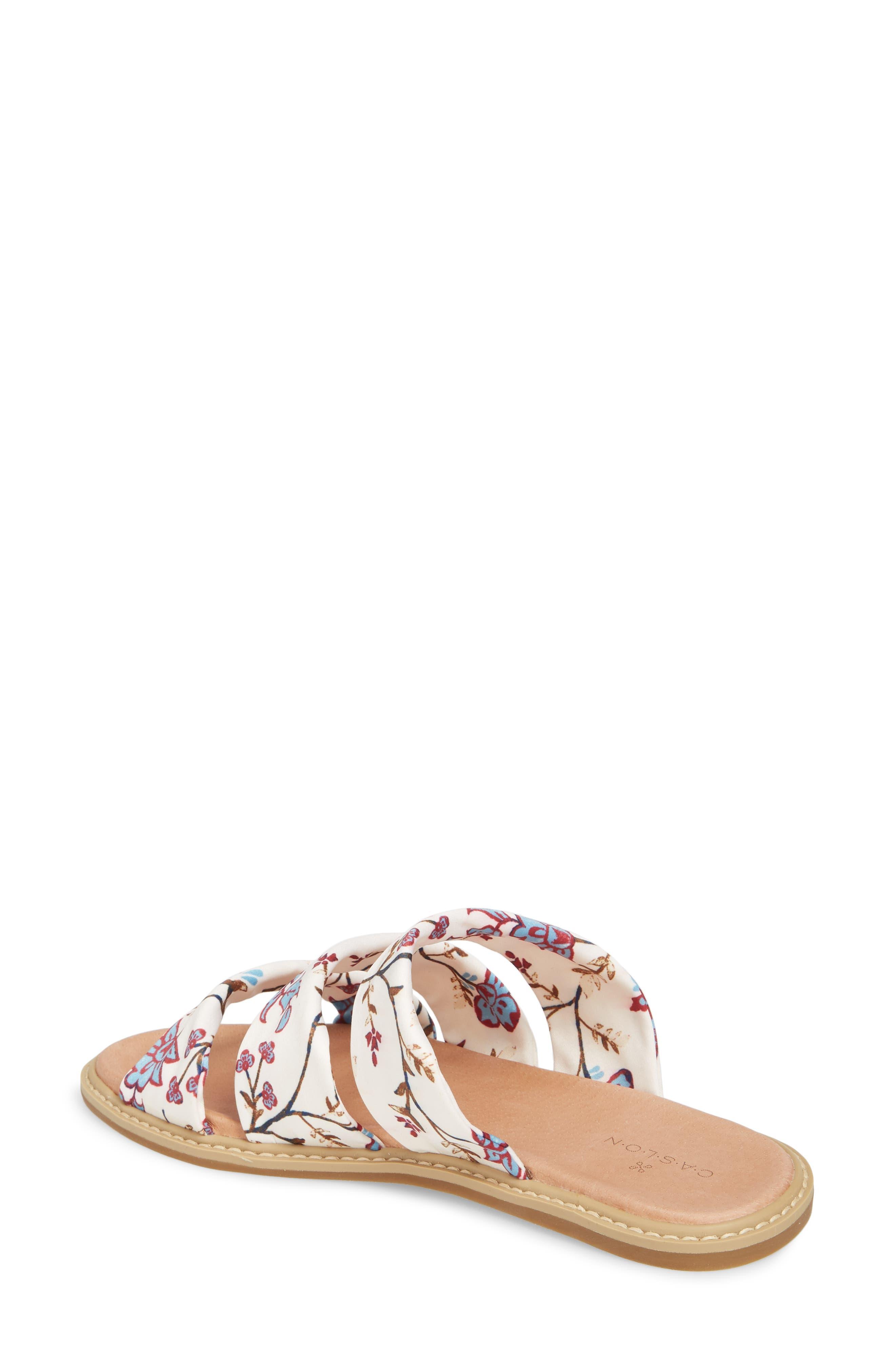 Cooper Slide Sandal,                             Alternate thumbnail 2, color,                             White Agrestic Fabric