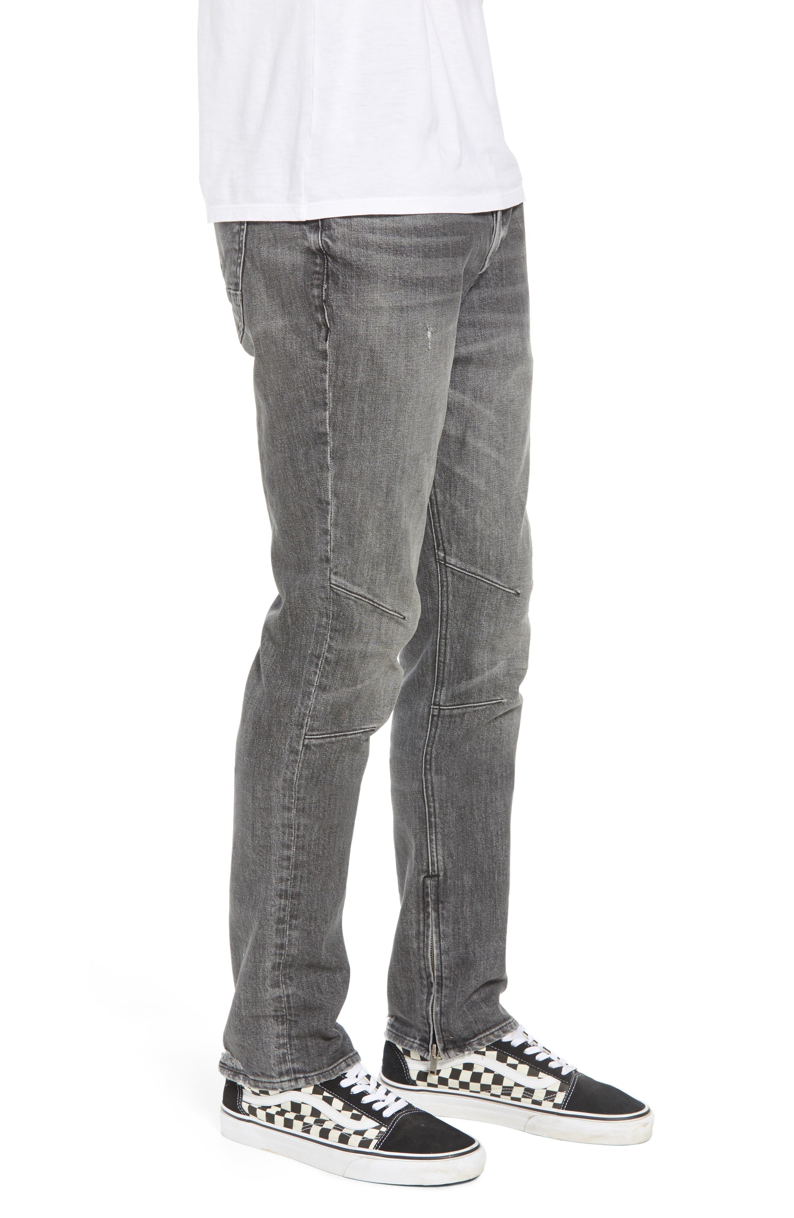 Vaughn Biker Skinny Fit Jeans,                             Alternate thumbnail 3, color,                             Kingpin