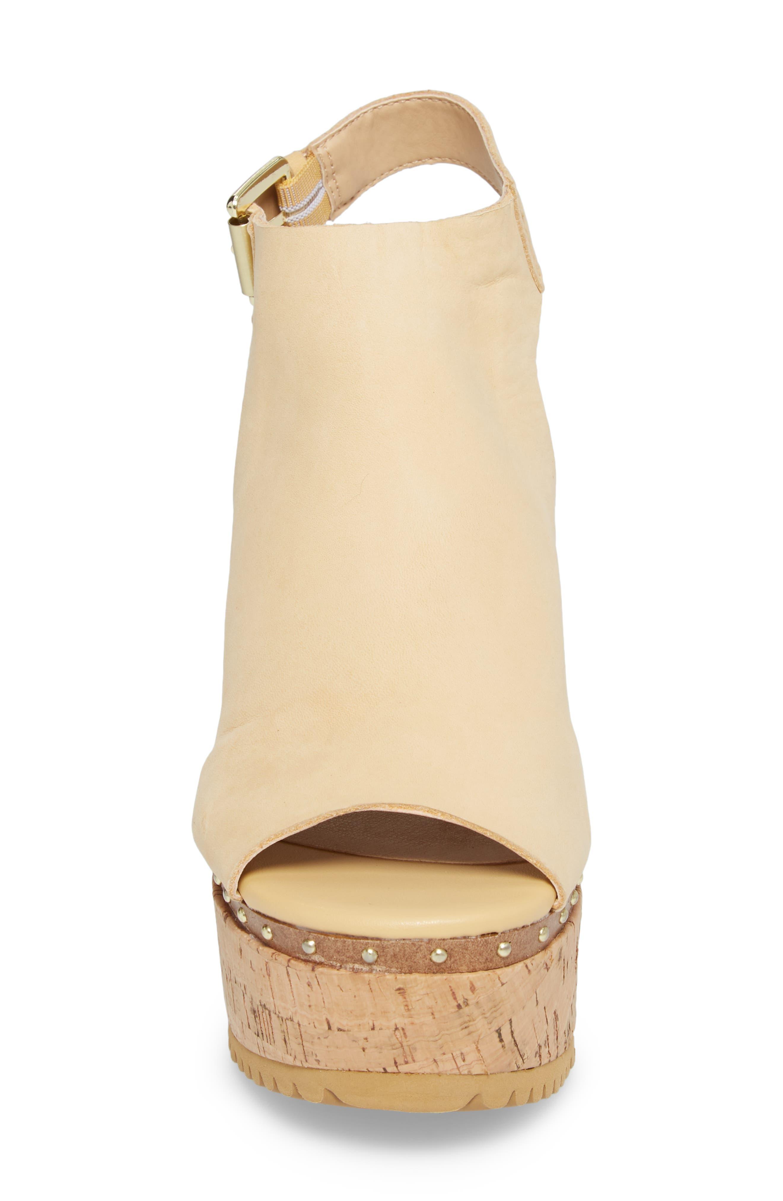 Trinity Studded Platform Sandal,                             Alternate thumbnail 4, color,                             Cream