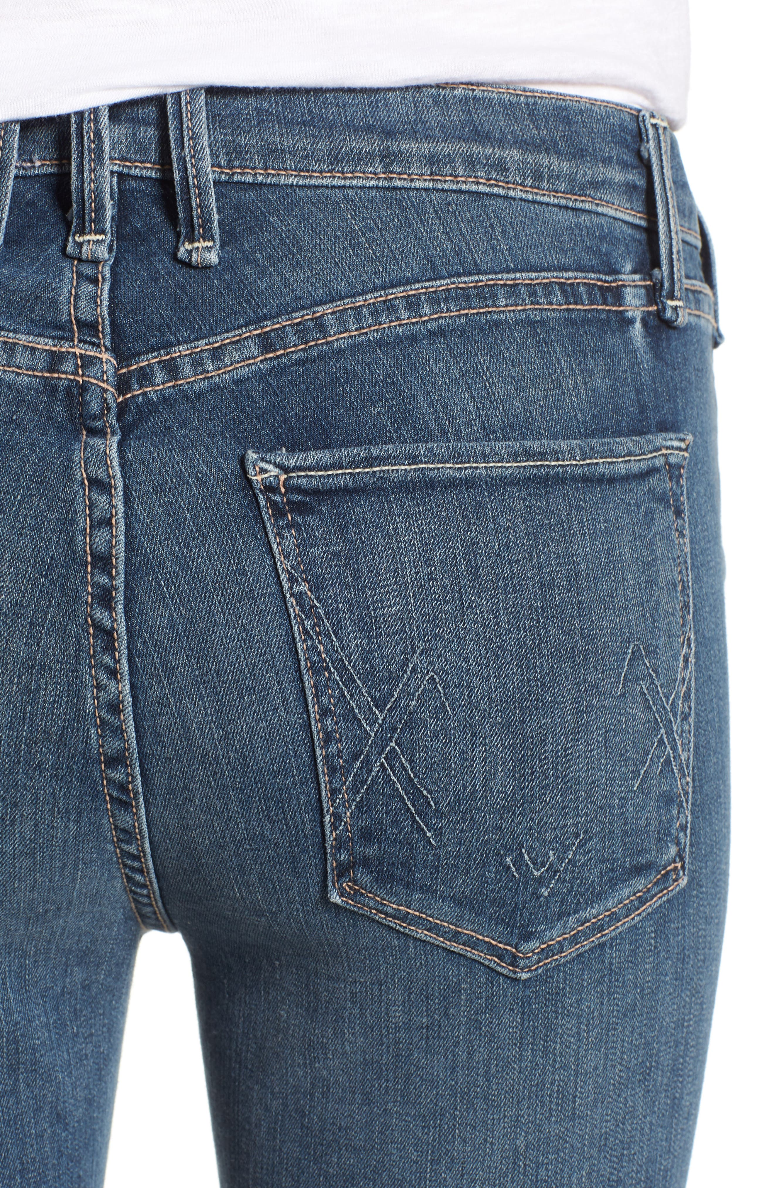 Newton Crop Skinny Jeans,                             Alternate thumbnail 4, color,                             Barthelemy Gardens