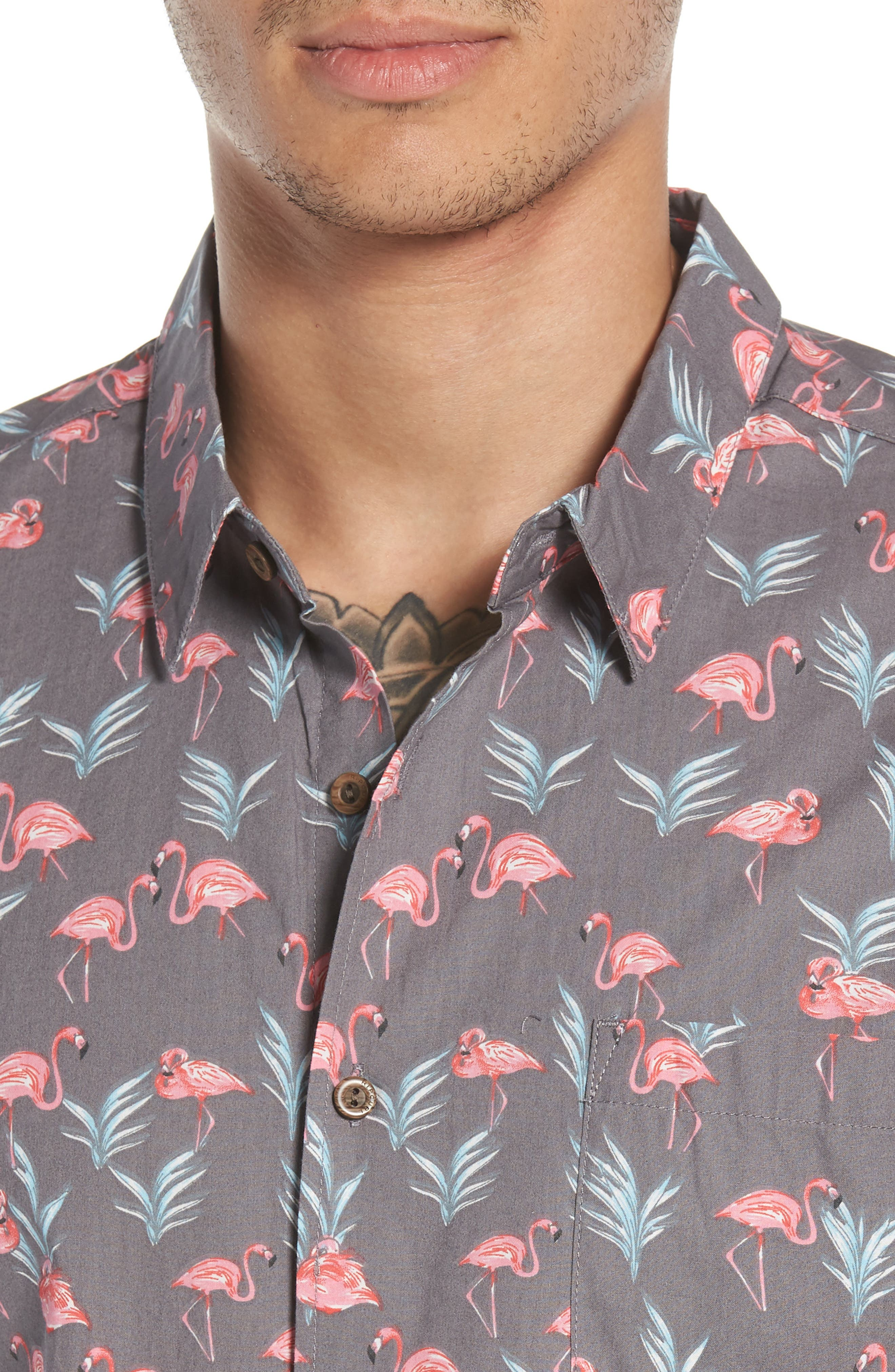 Flaminko Woven Shirt,                             Alternate thumbnail 2, color,                             Black