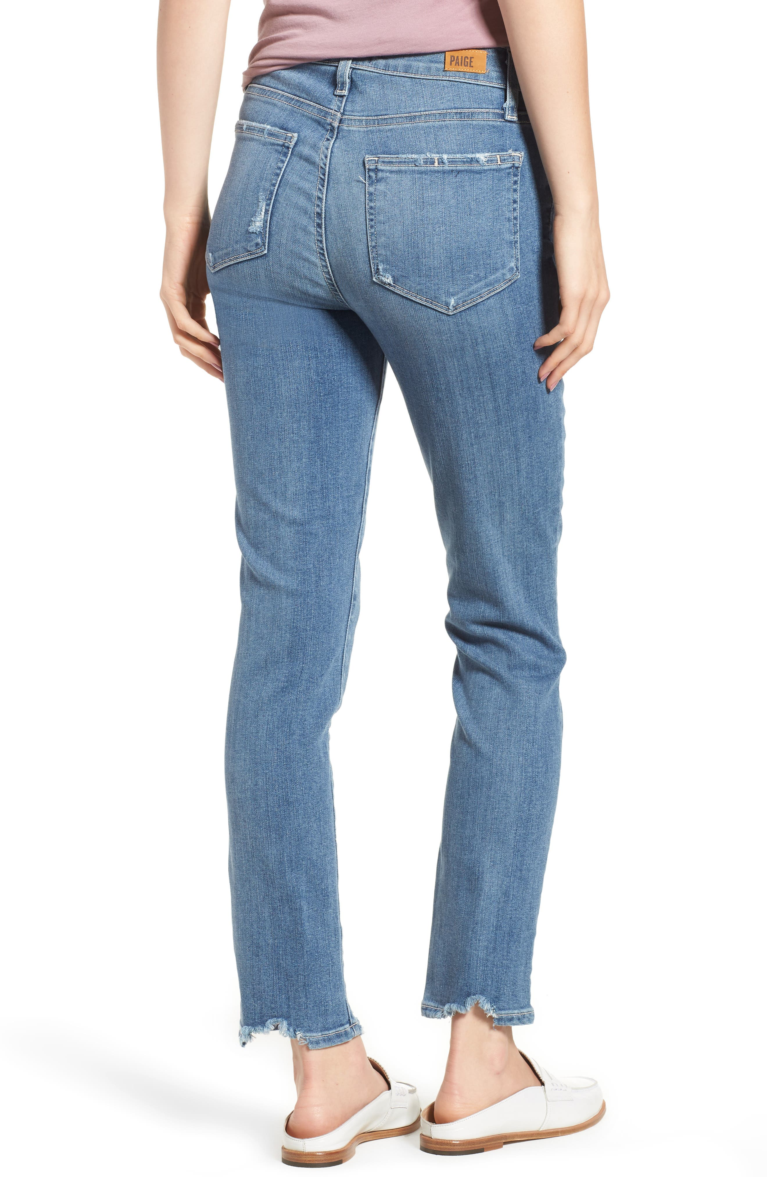Transcend Vintage - Hoxton High Waist Ankle Skinny Jeans,                             Alternate thumbnail 4, color,                             Zahara