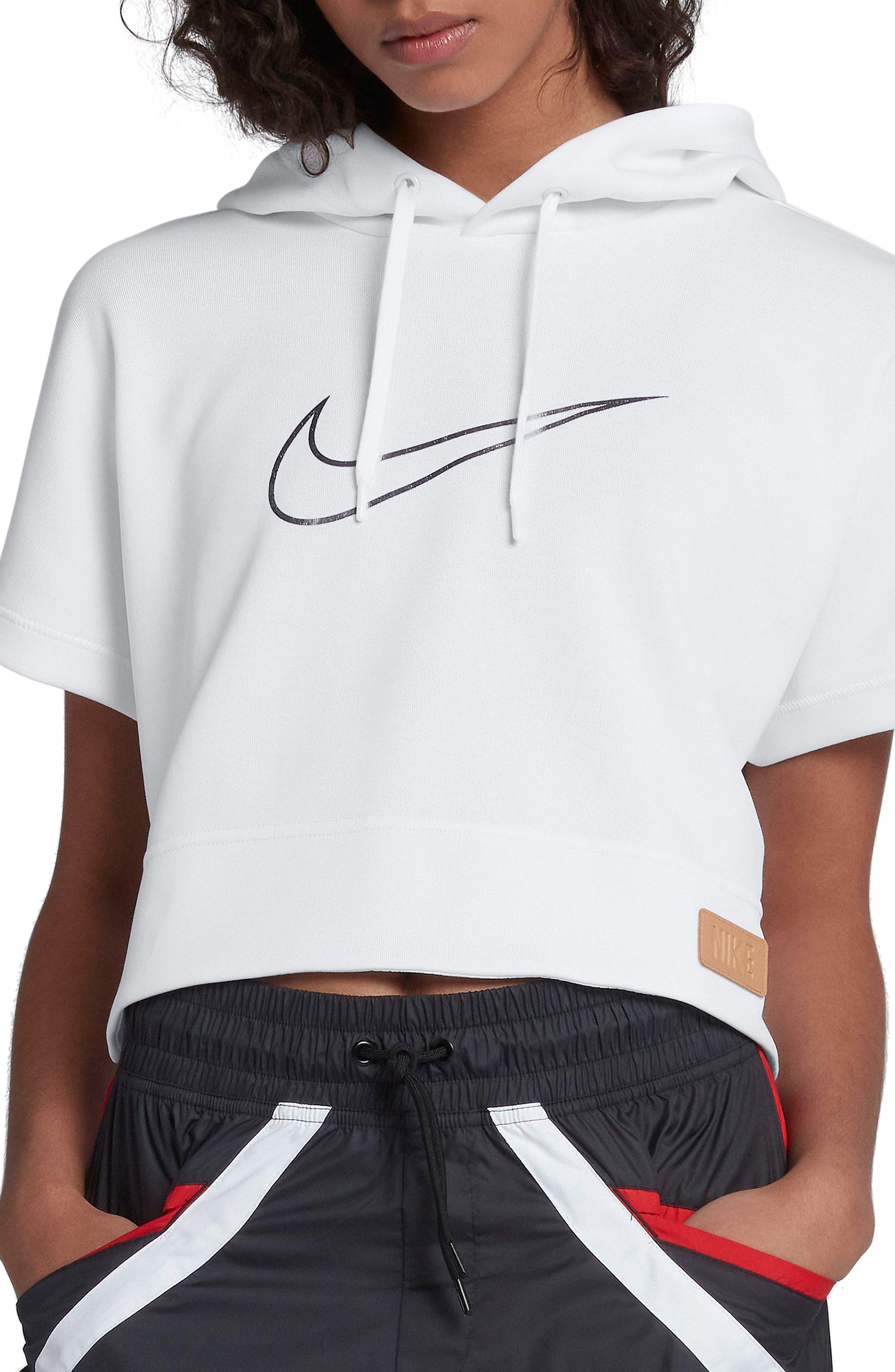 Sportswear Beautiful x Powerful Crop Hoodie,                         Main,                         color, White