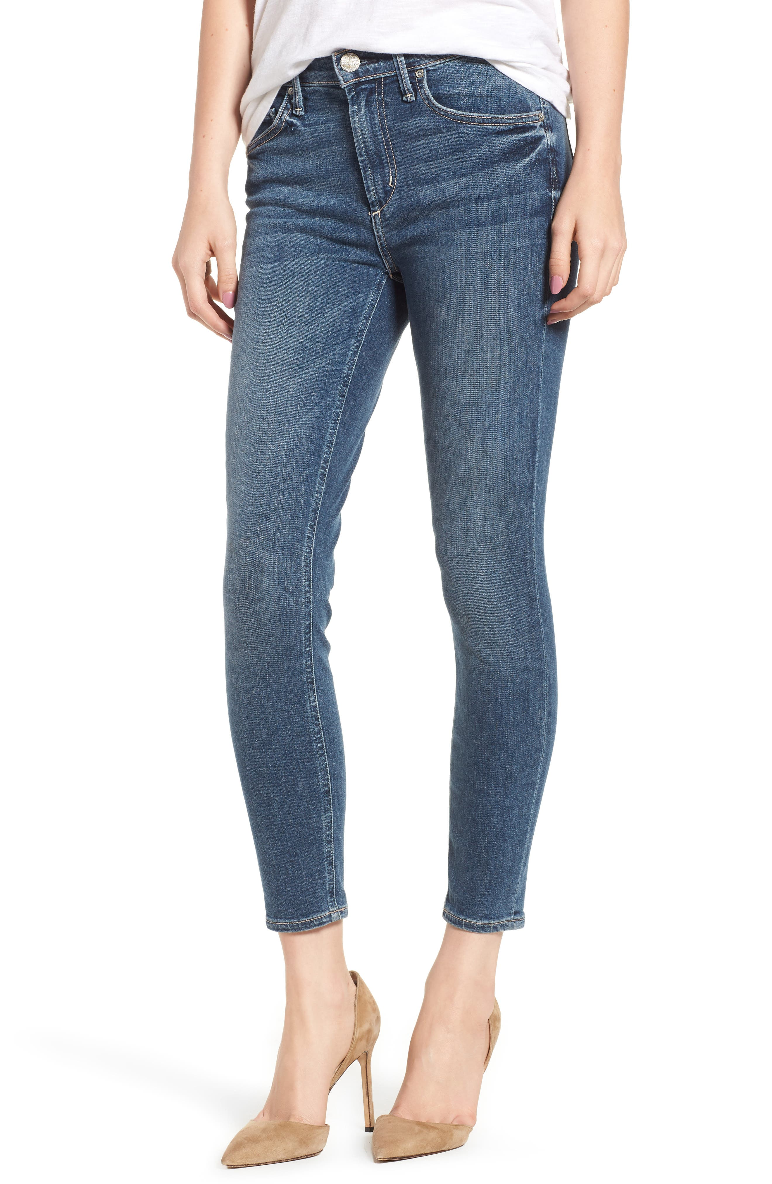 Newton Crop Skinny Jeans,                             Main thumbnail 1, color,                             Barthelemy Gardens