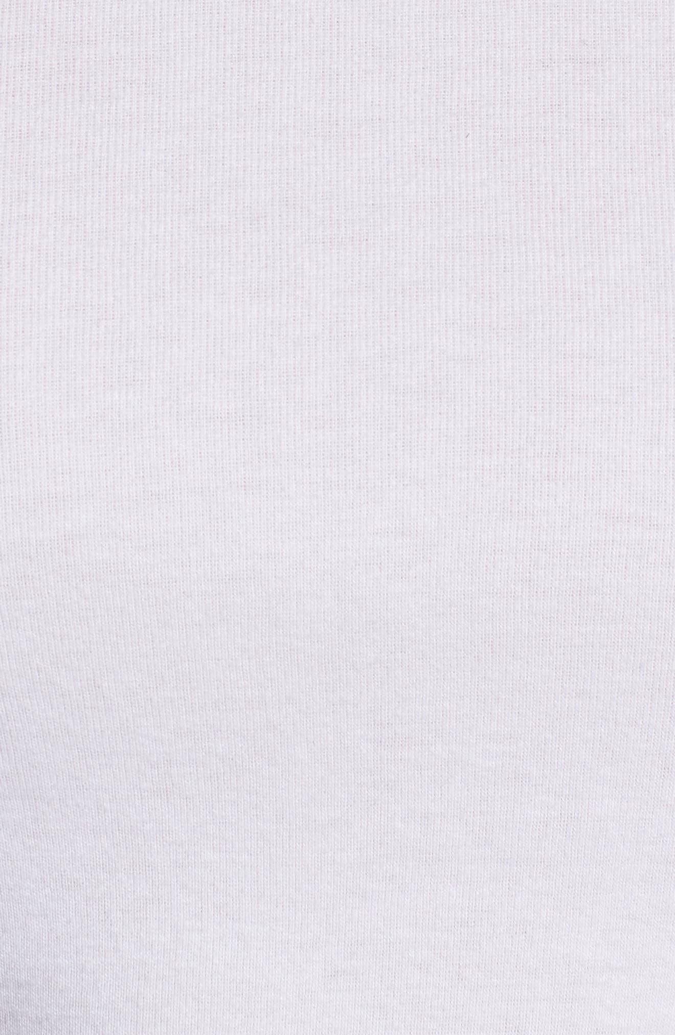 Crewneck Cotton Blend Top,                             Alternate thumbnail 5, color,                             White