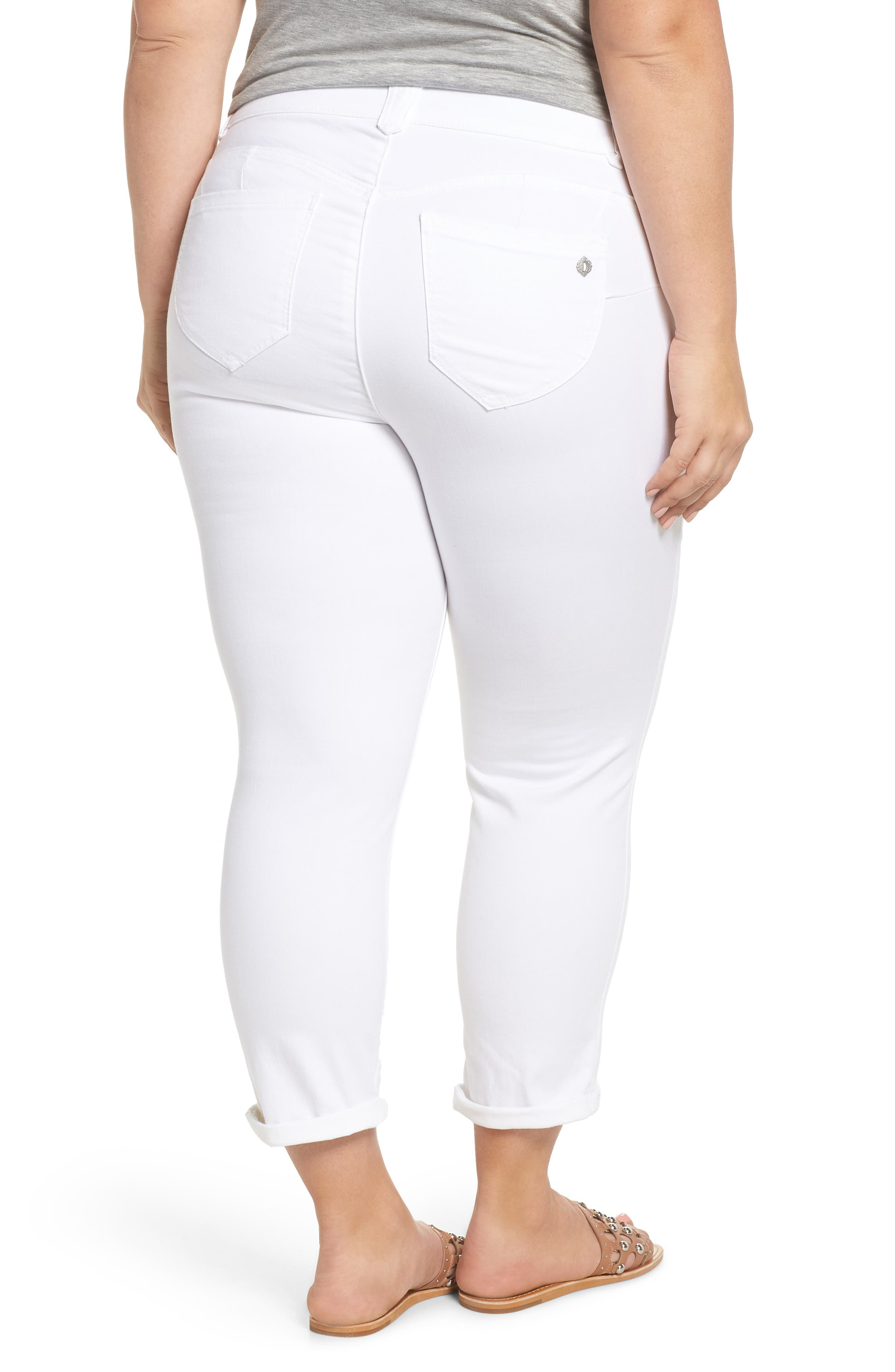 Ab-Solution Ankle Jeans,                             Alternate thumbnail 2, color,                             Optic White