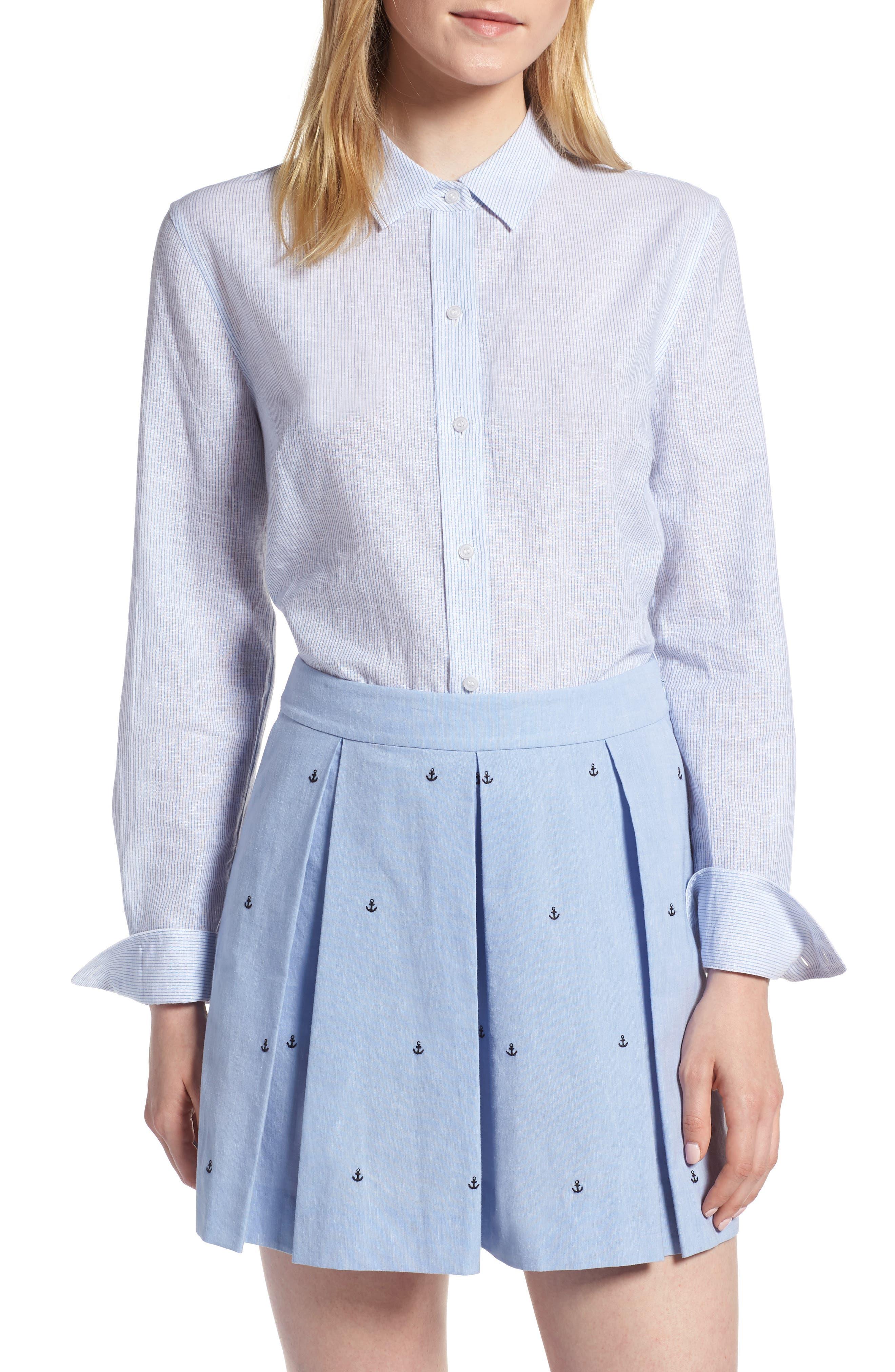 1901 Button Up Stripe Shirt (Regular & Petite)