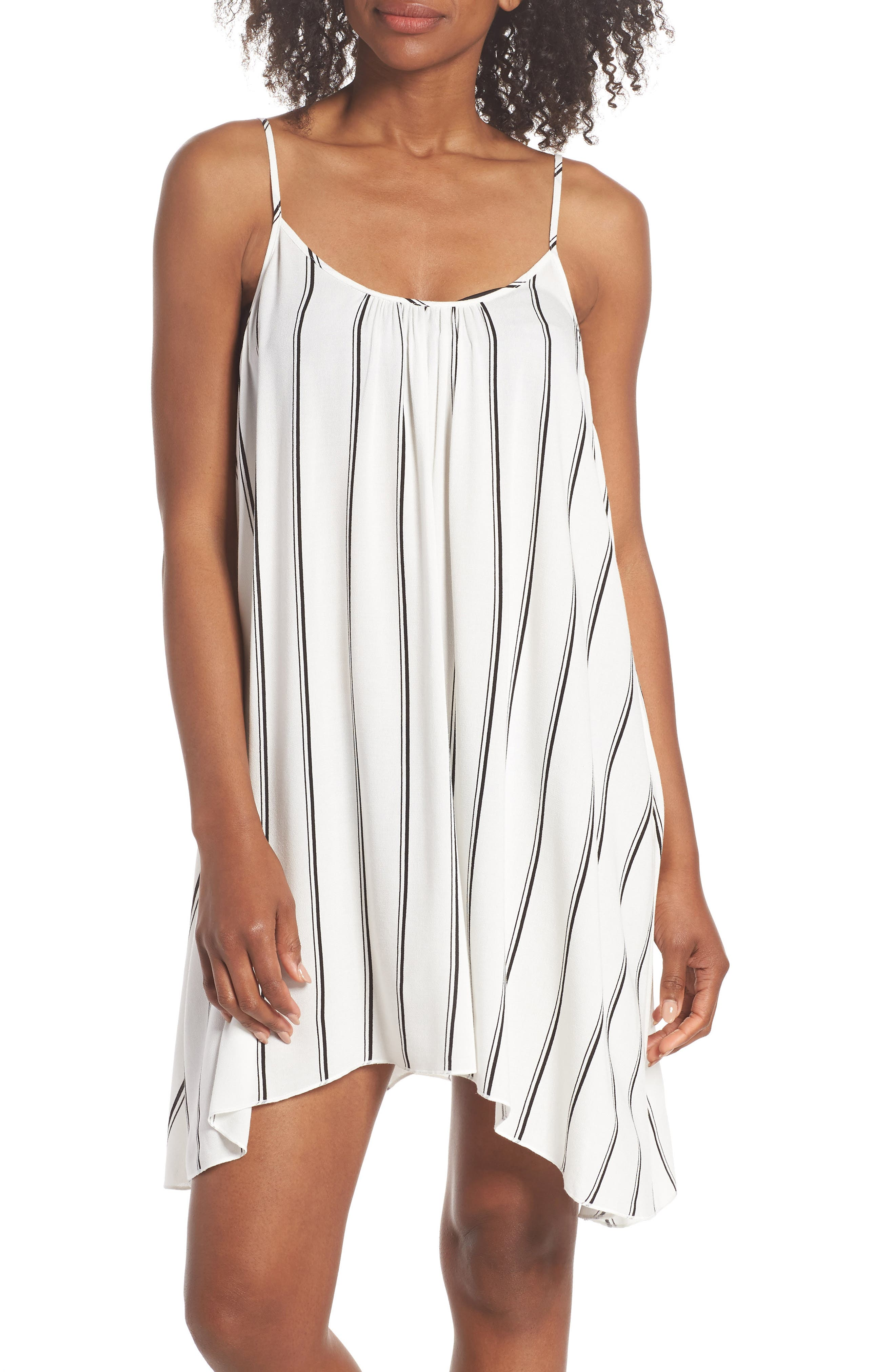 Cover-Up Slipdress,                         Main,                         color, White/ Navy