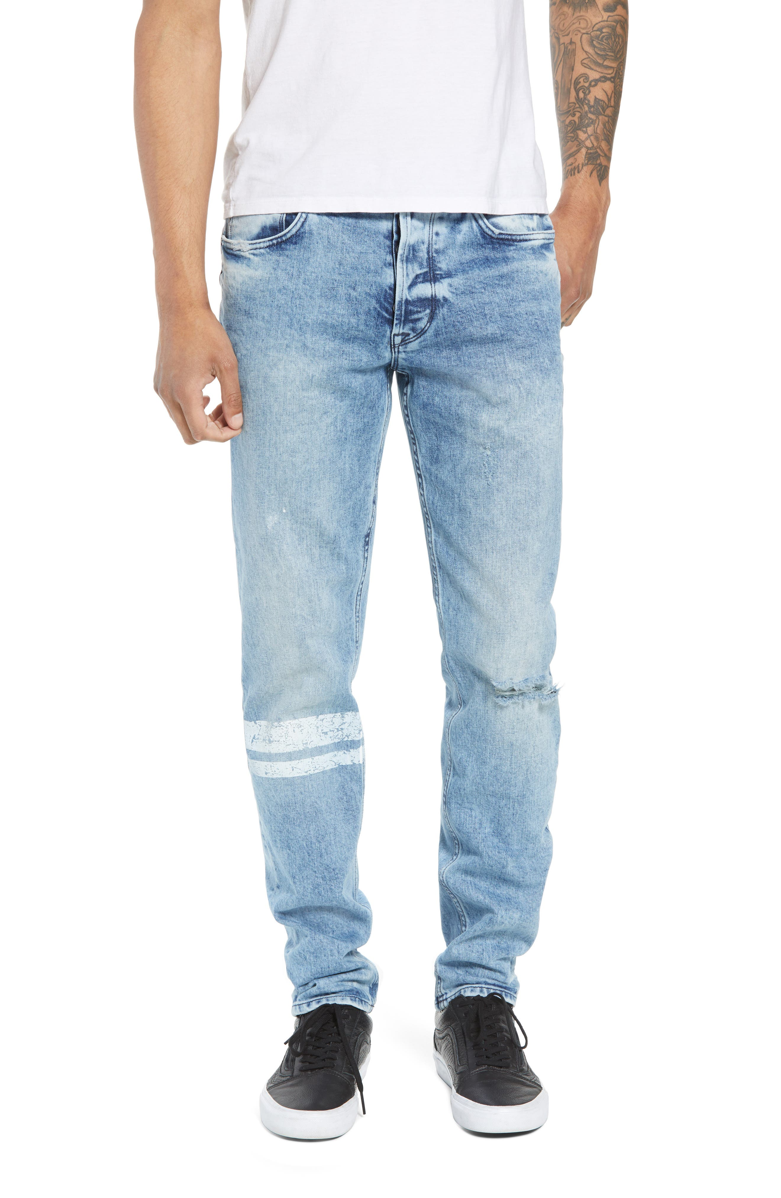 Hudson Jeans Sartor Slouchy Skinny Fit Jeans (Wild Nothing)