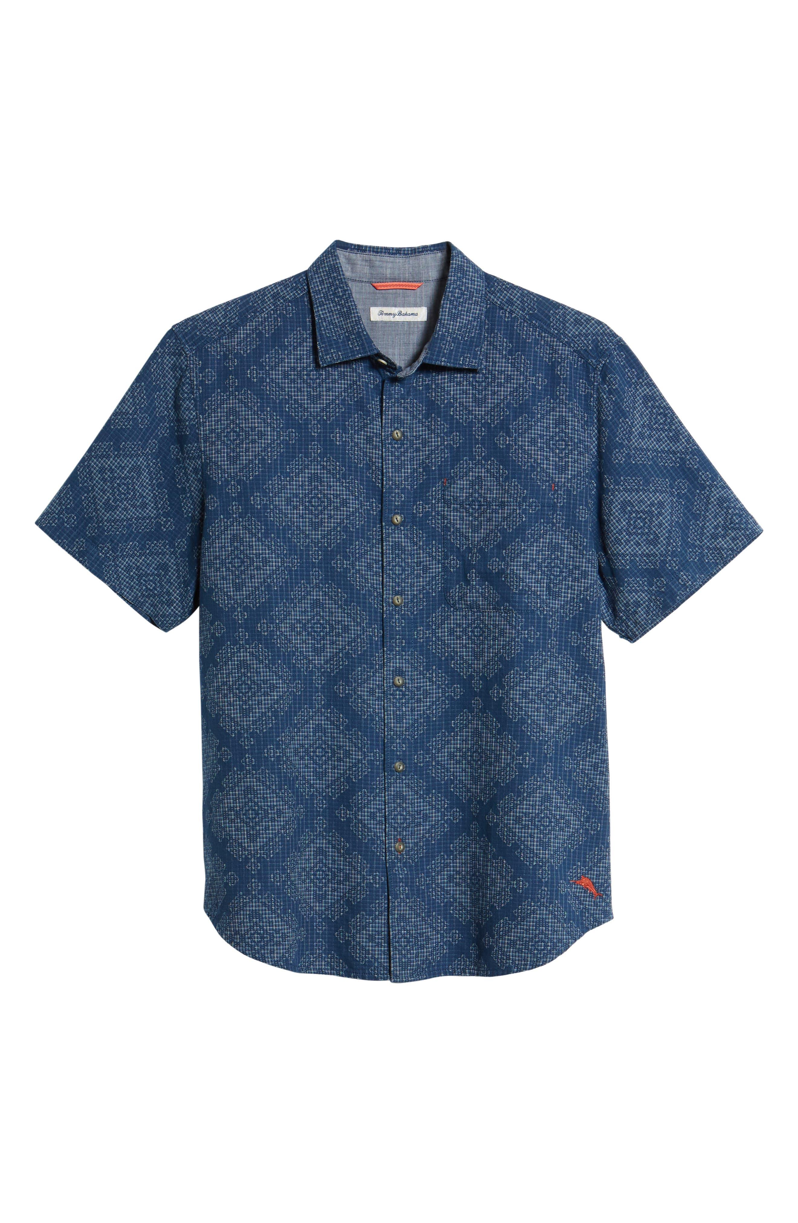 Geo de Mayo Sport Shirt,                             Alternate thumbnail 6, color,                             Throne Blue
