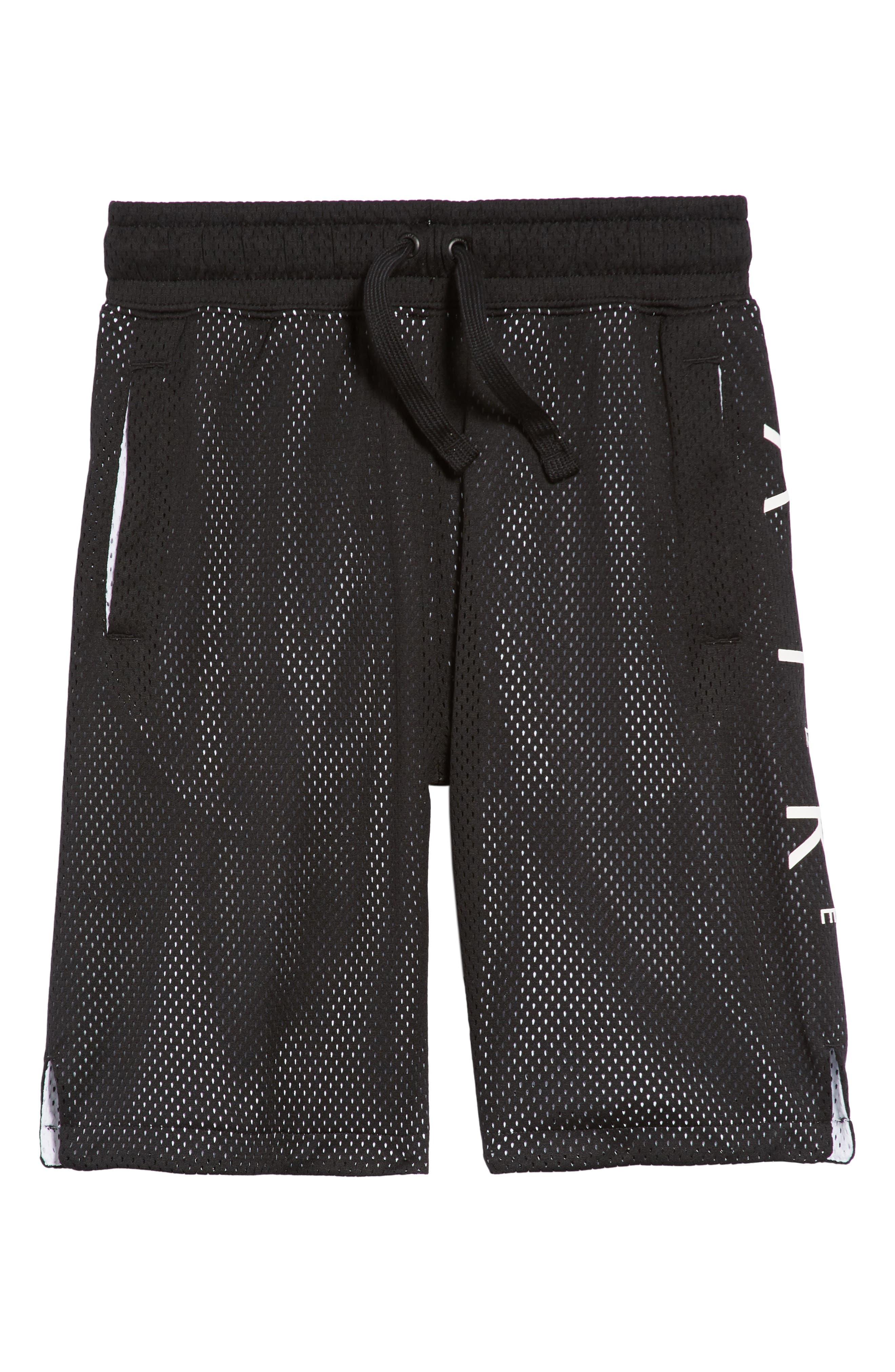 Sportswear Air Knit Shorts,                             Main thumbnail 1, color,                             Black/ White