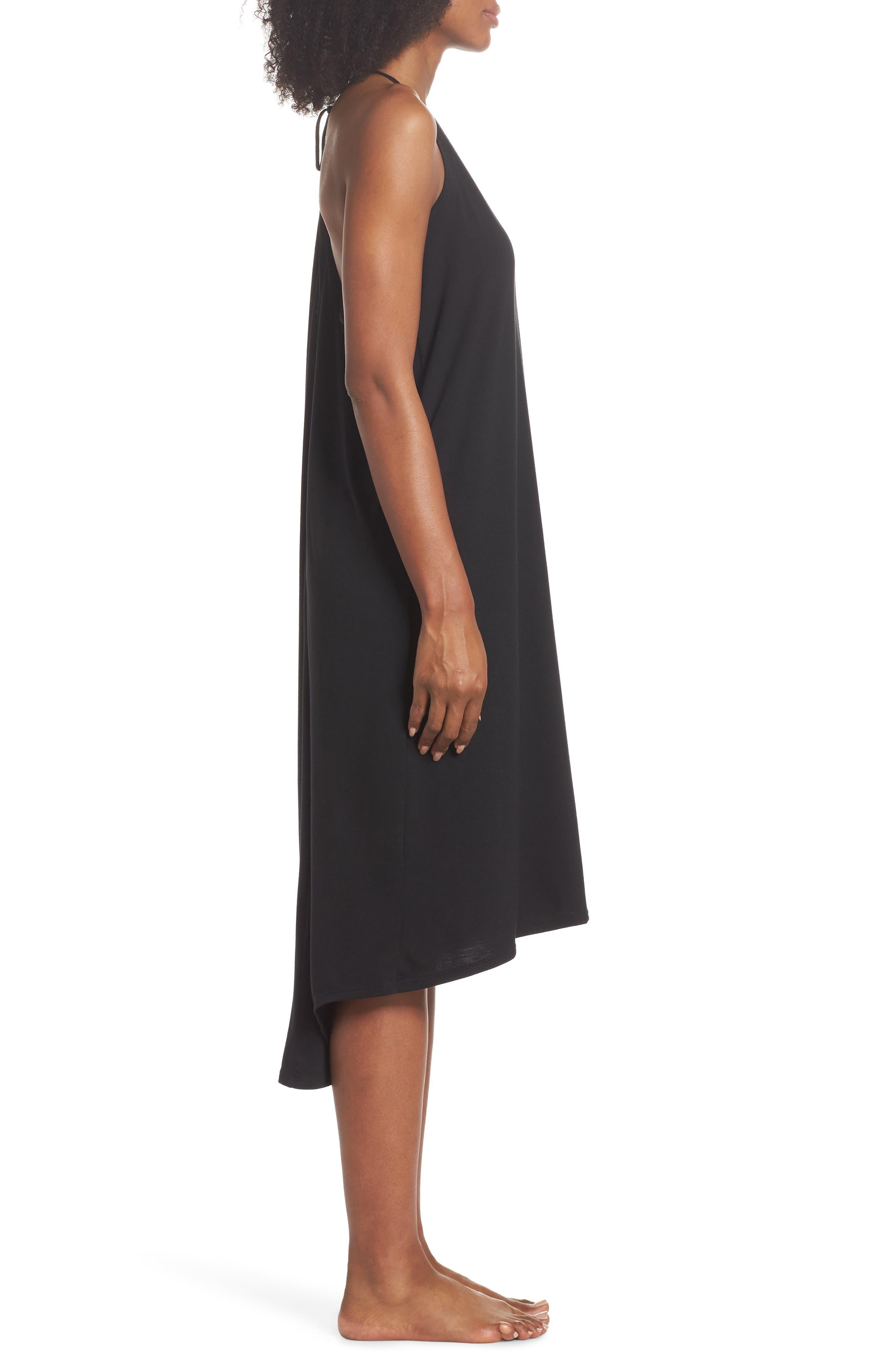 Yoga Dress,                             Alternate thumbnail 3, color,                             Black