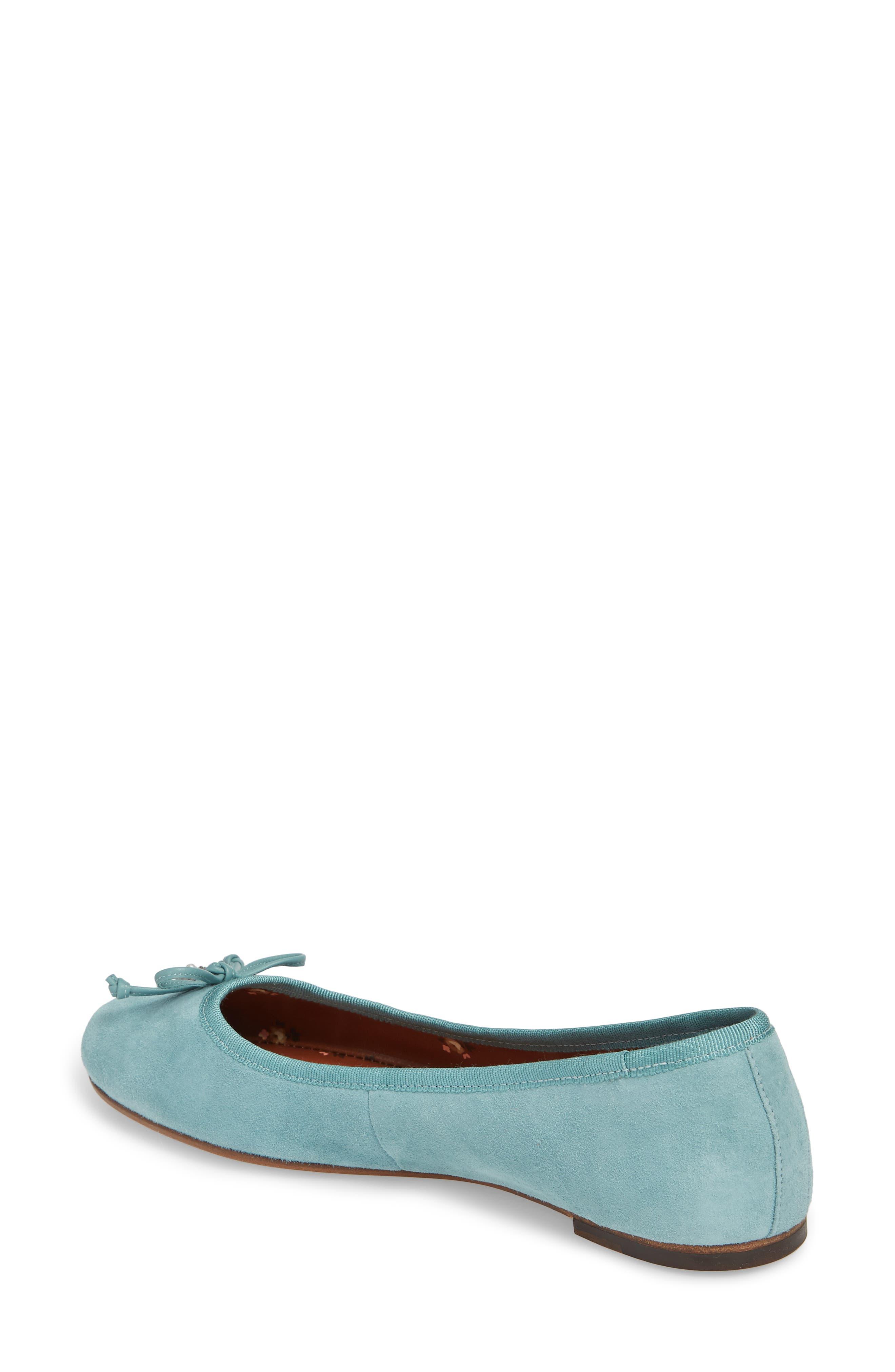 Lola Ballet Flat,                             Alternate thumbnail 2, color,                             Marine Leather