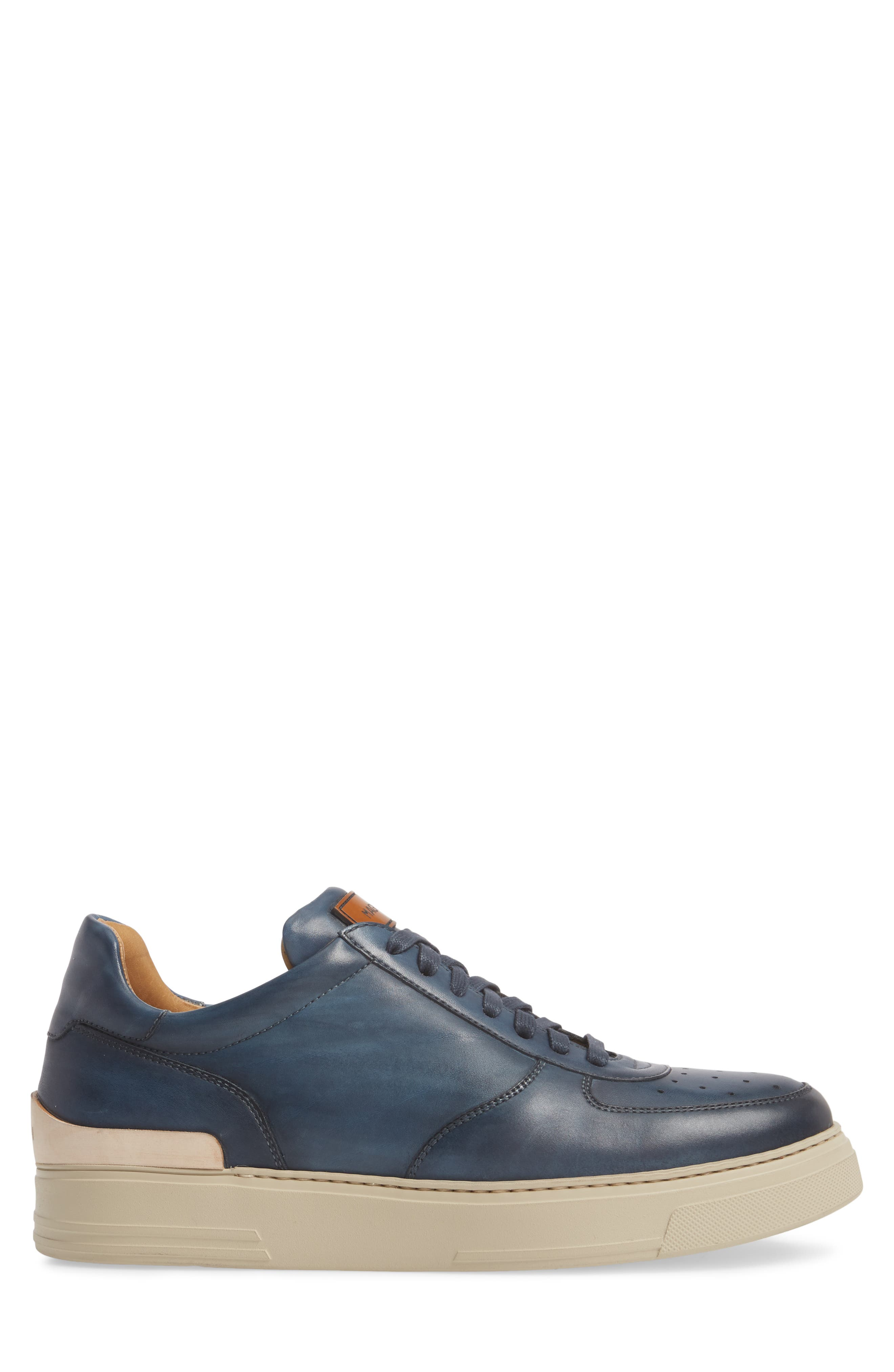 Vada Lo Lace Up Sneaker,                             Alternate thumbnail 3, color,                             Blue Leather