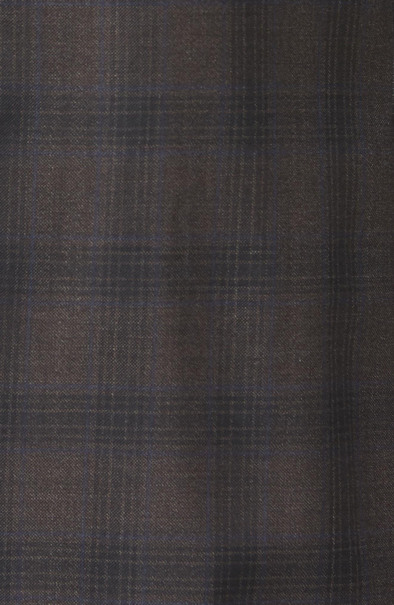 Classic Fit Plaid Wool Sport Coat,                             Alternate thumbnail 5, color,                             Brown