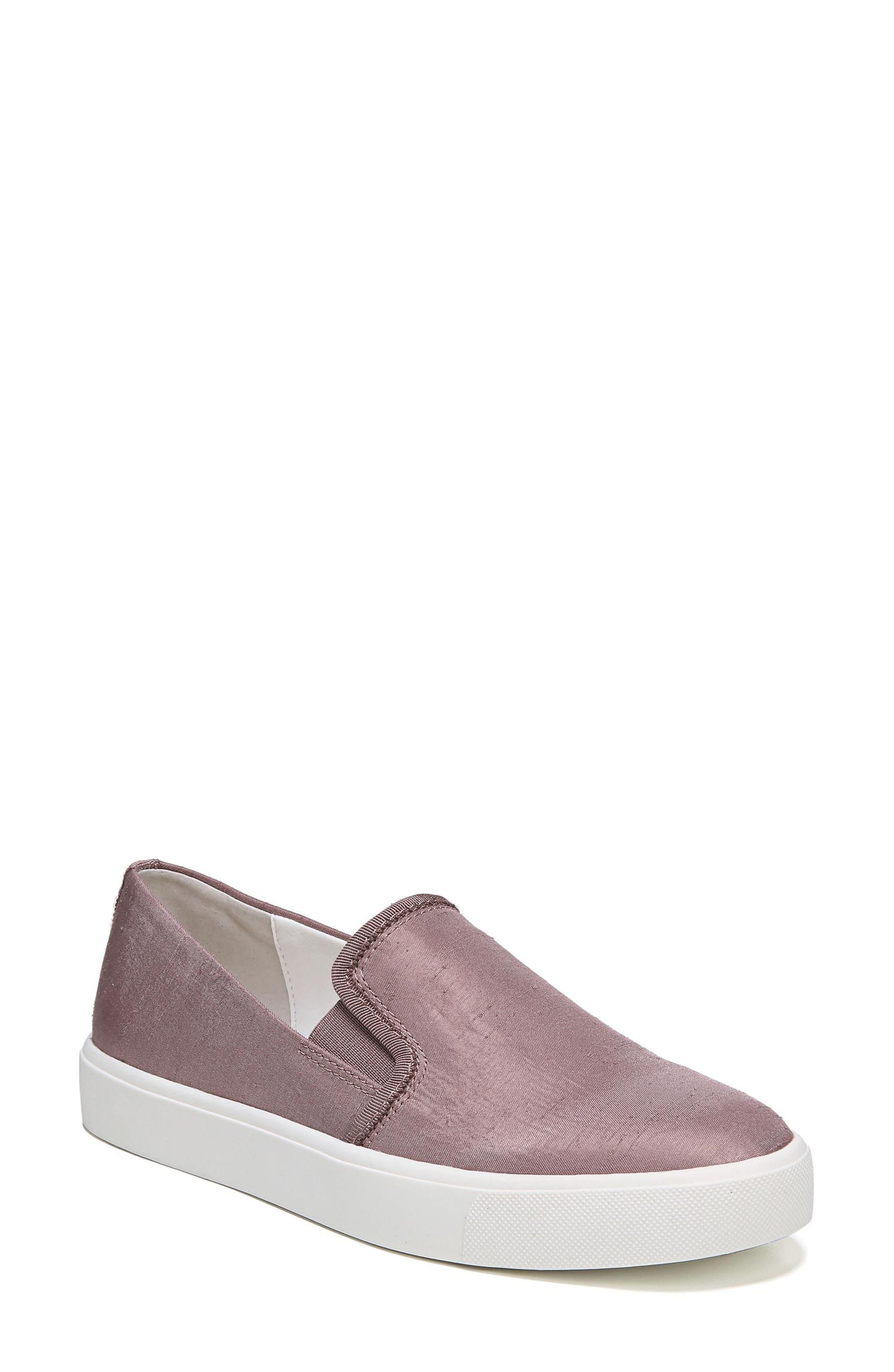 Elton Slip-On Sneaker,                             Main thumbnail 1, color,                             Pink Mauve Silk Fabric