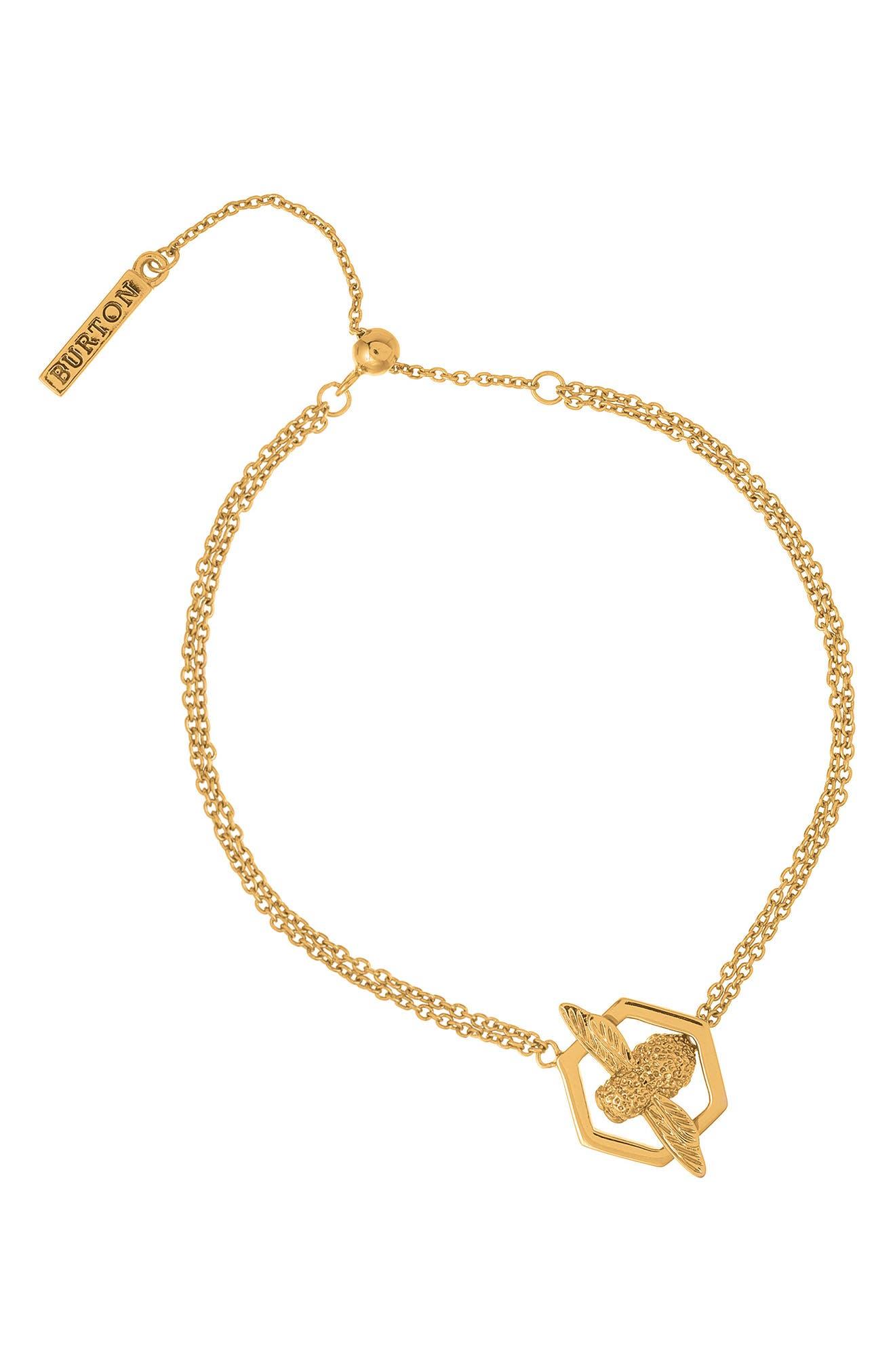 Olivia Burton Honeycomb Bee Chain Bracelet