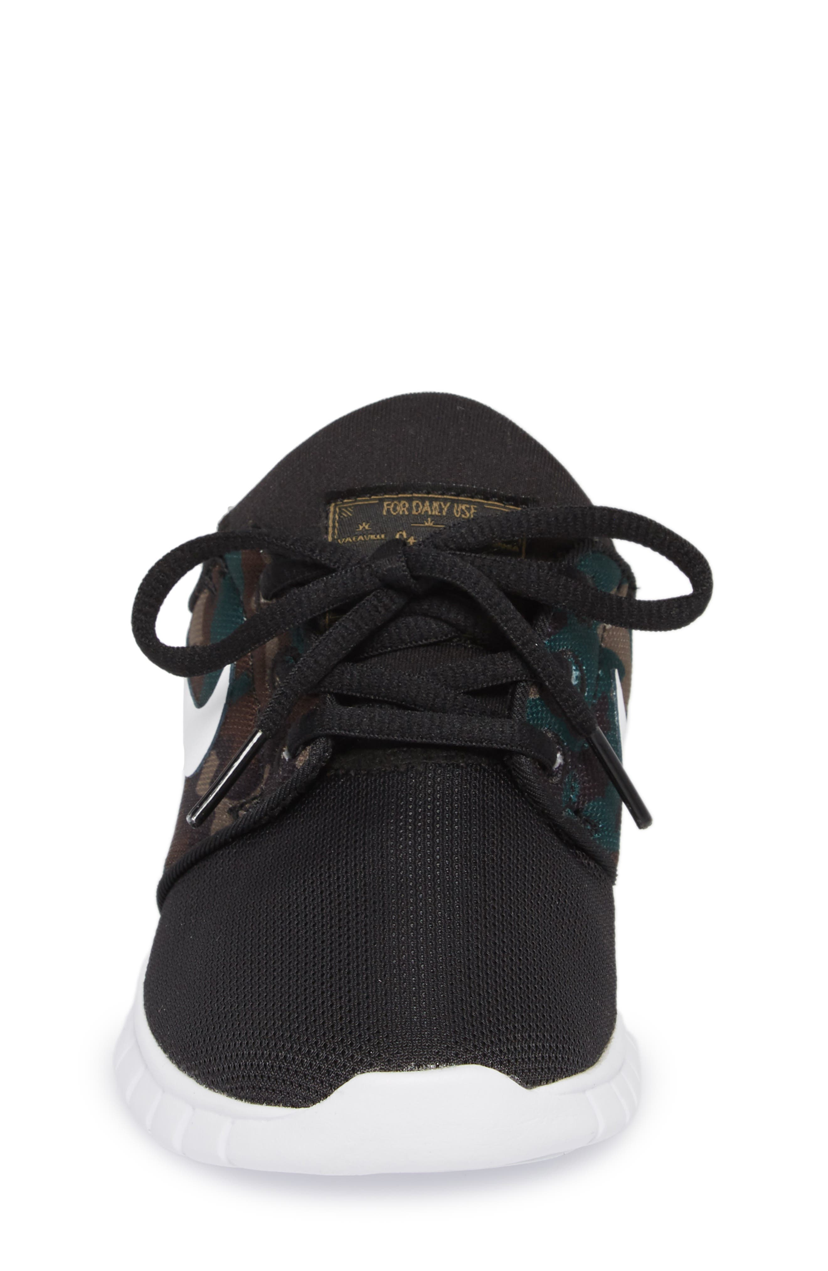 Stefan Janoski Max SB Skate Sneaker,                             Alternate thumbnail 4, color,                             Black/ White/ Olive/ Brown