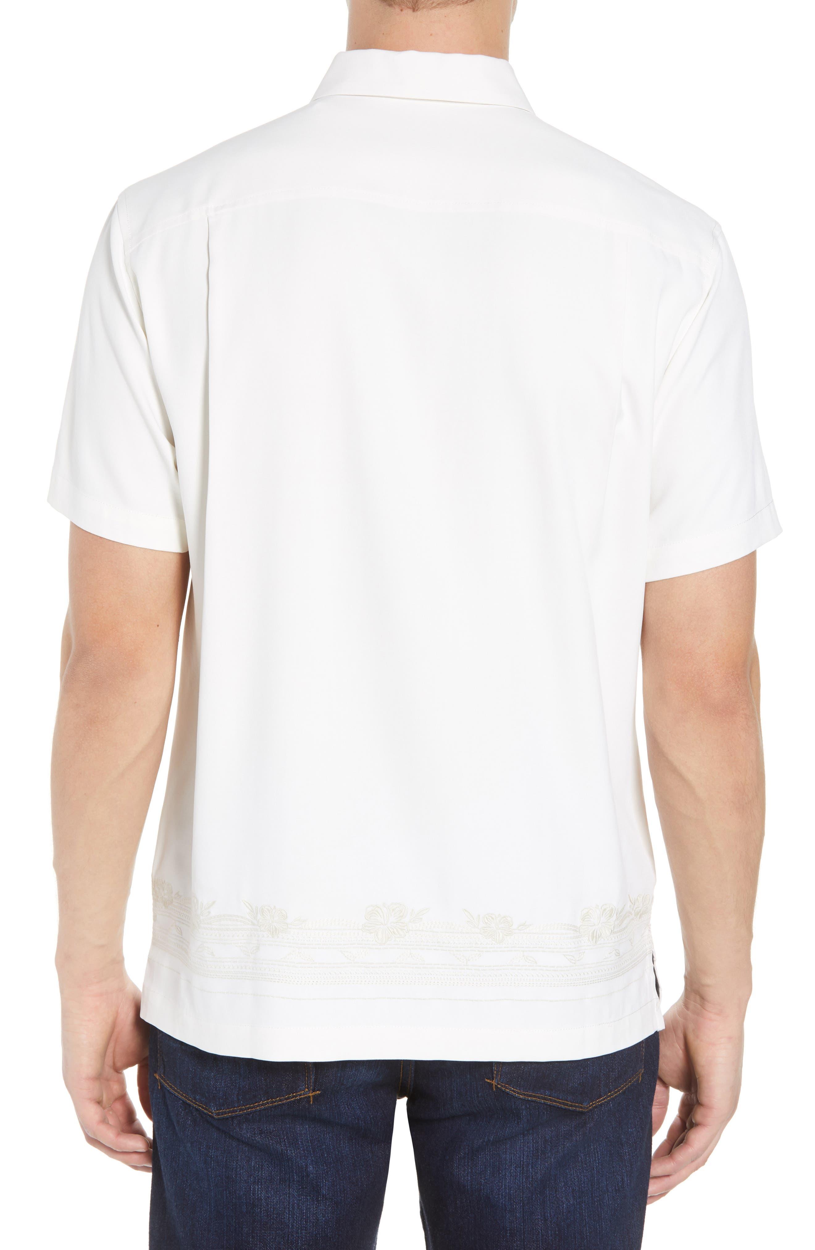 Cambio Tiles Silk Camp Shirt,                             Alternate thumbnail 3, color,                             Continental