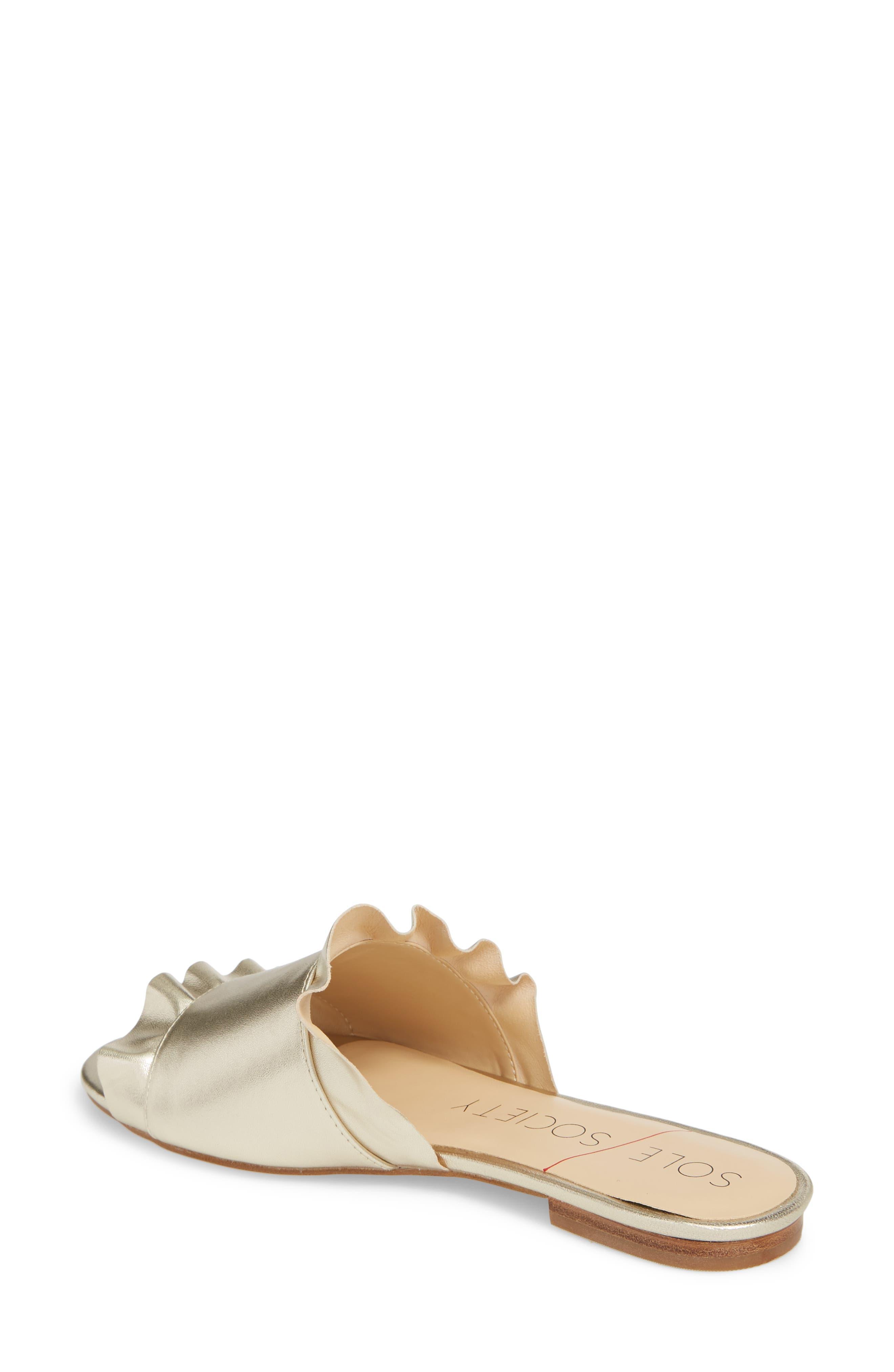 So-Madalayne Flat Sandal,                             Alternate thumbnail 2, color,                             Totes Gold