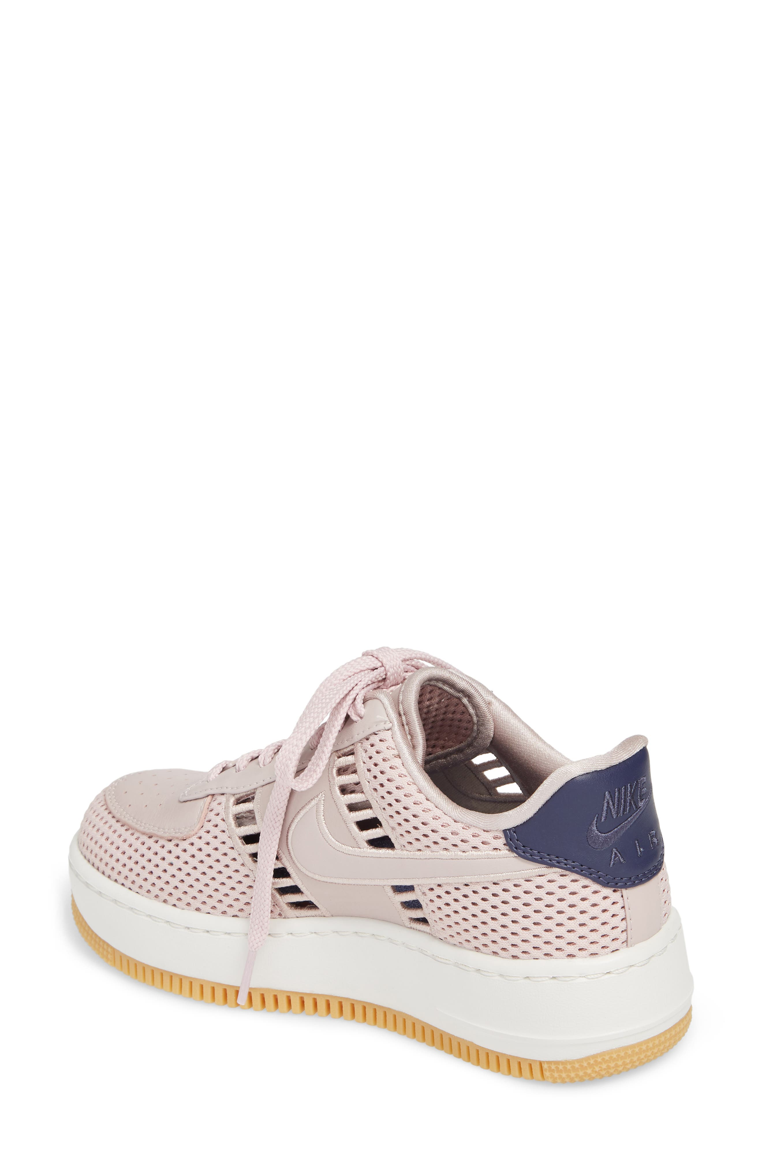 Air Force 1 Upstep SI Mesh Sneaker,                             Alternate thumbnail 2, color,                             Particle Rose/ Summit White