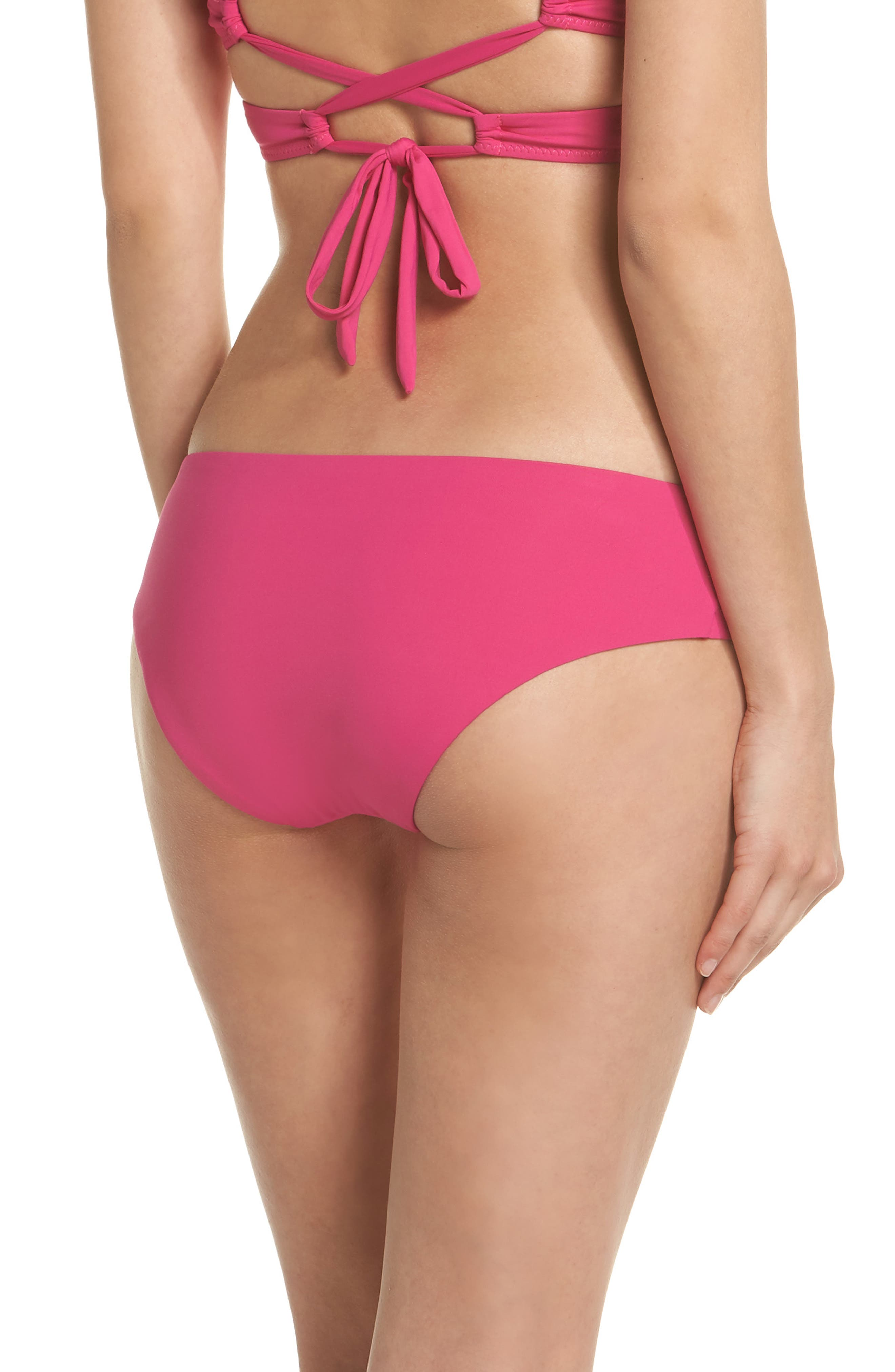Color Code Hipster Bikini Bottoms,                             Alternate thumbnail 2, color,                             Flamingo