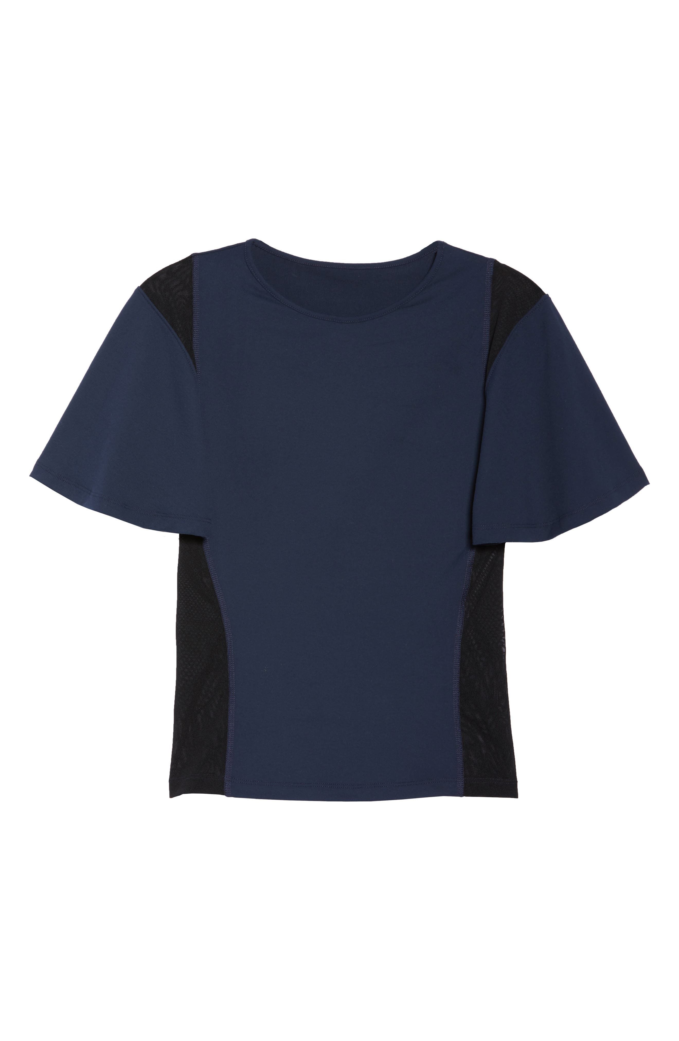 BoomBoom Athletica Wing Sleeve Tee,                             Alternate thumbnail 7, color,                             Navy/ Black