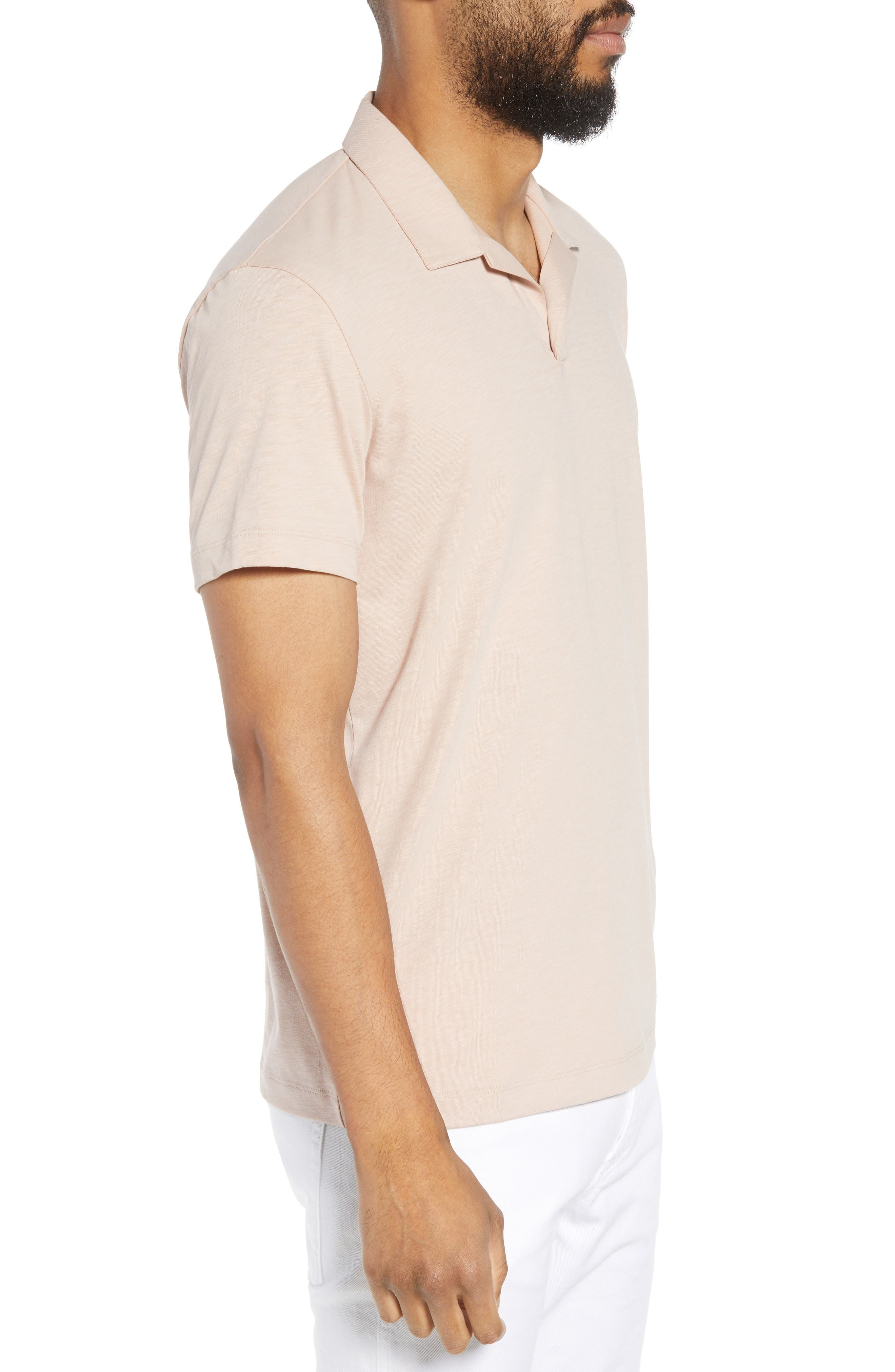Willem Strato Regular Fit Polo,                             Alternate thumbnail 3, color,                             Petal