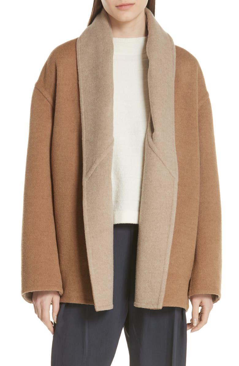 Reversible Shawl Collar Coat